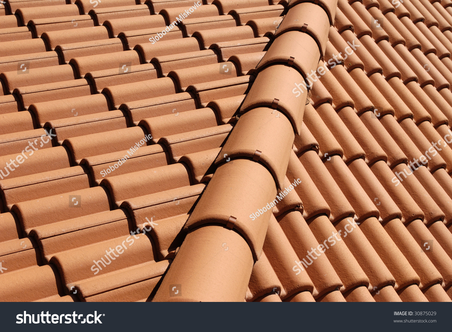 Mediterranean house roof style 3 stock photo 30875029 for Mediterranean roof styles