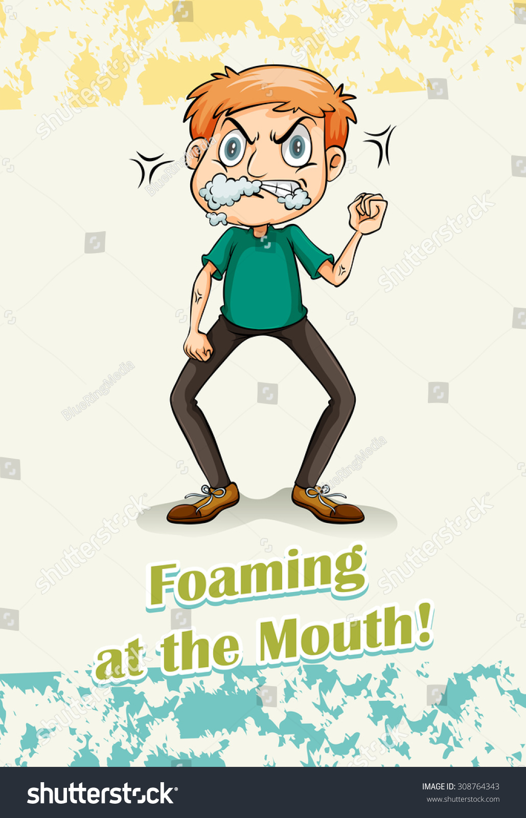 Idiom Foaming At The Mouth Illustration - 308764343 ...
