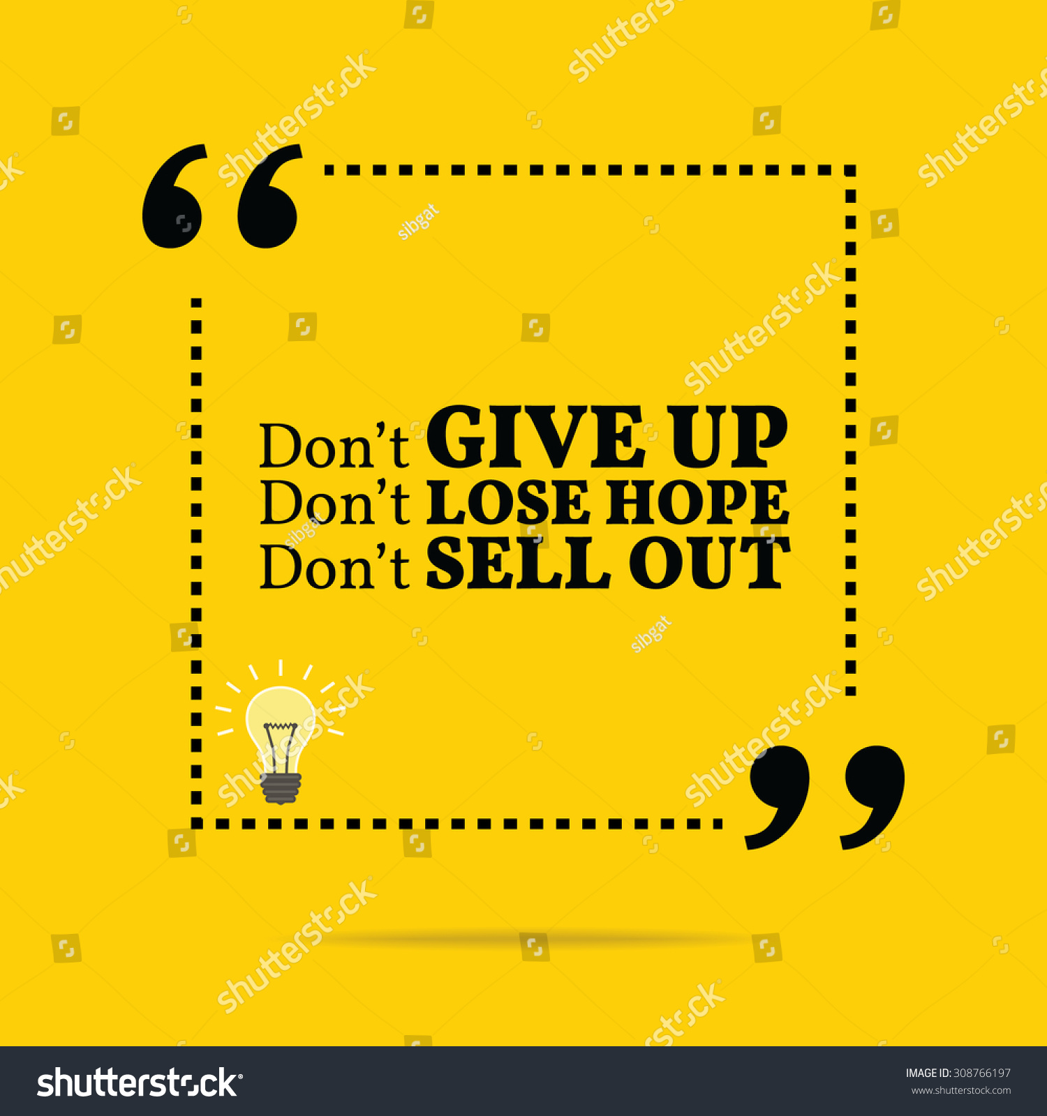 Simple Typography Spells Out A Powerful Motivation For: Inspirational Motivational Quote. Don'T Give Up. Don'T