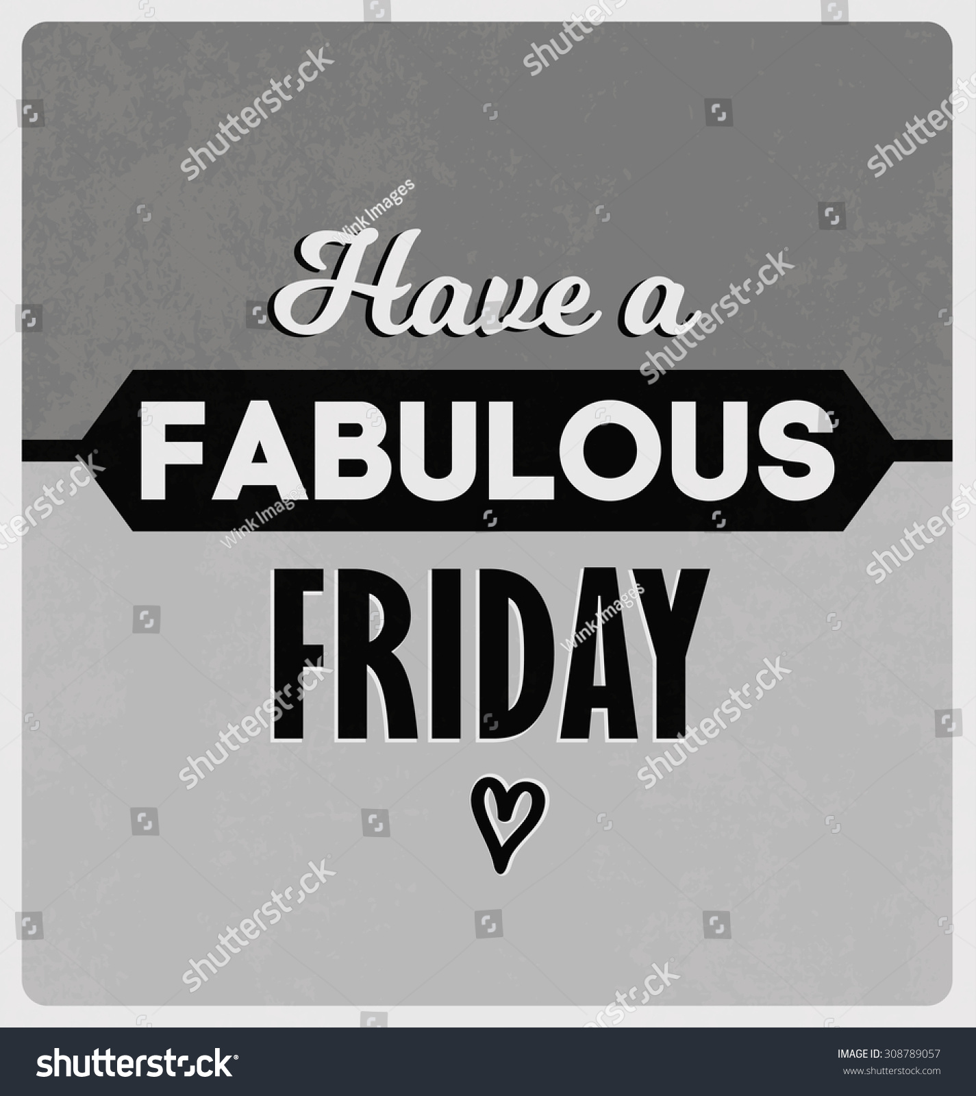 Poster design monochrome - Retro Typographic Poster Design Set Happy And Funny Quotes About Friday Monochrome Version