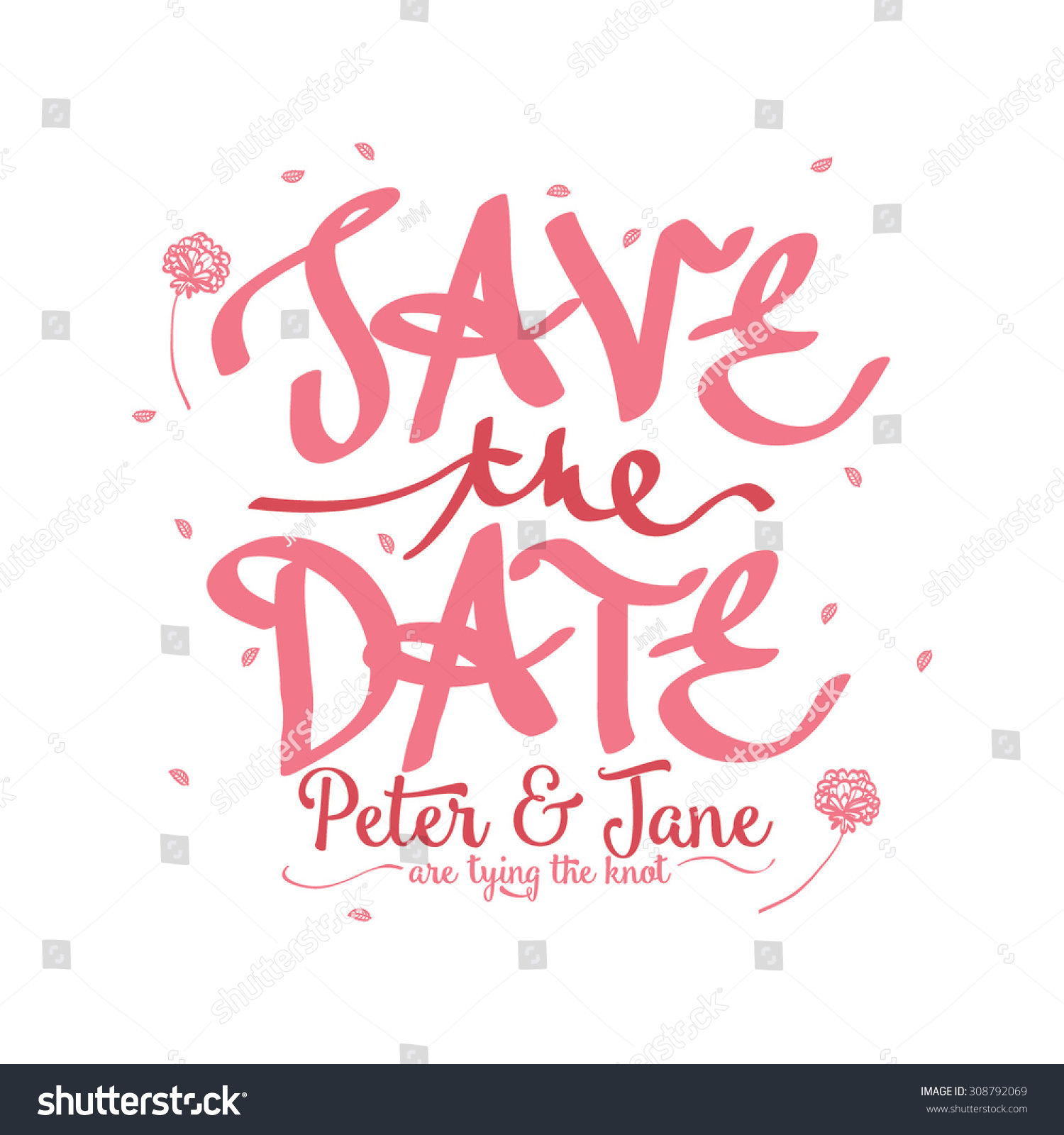 Wedding Invitation Card Designvintage Wedding Theme Stock Photo ...