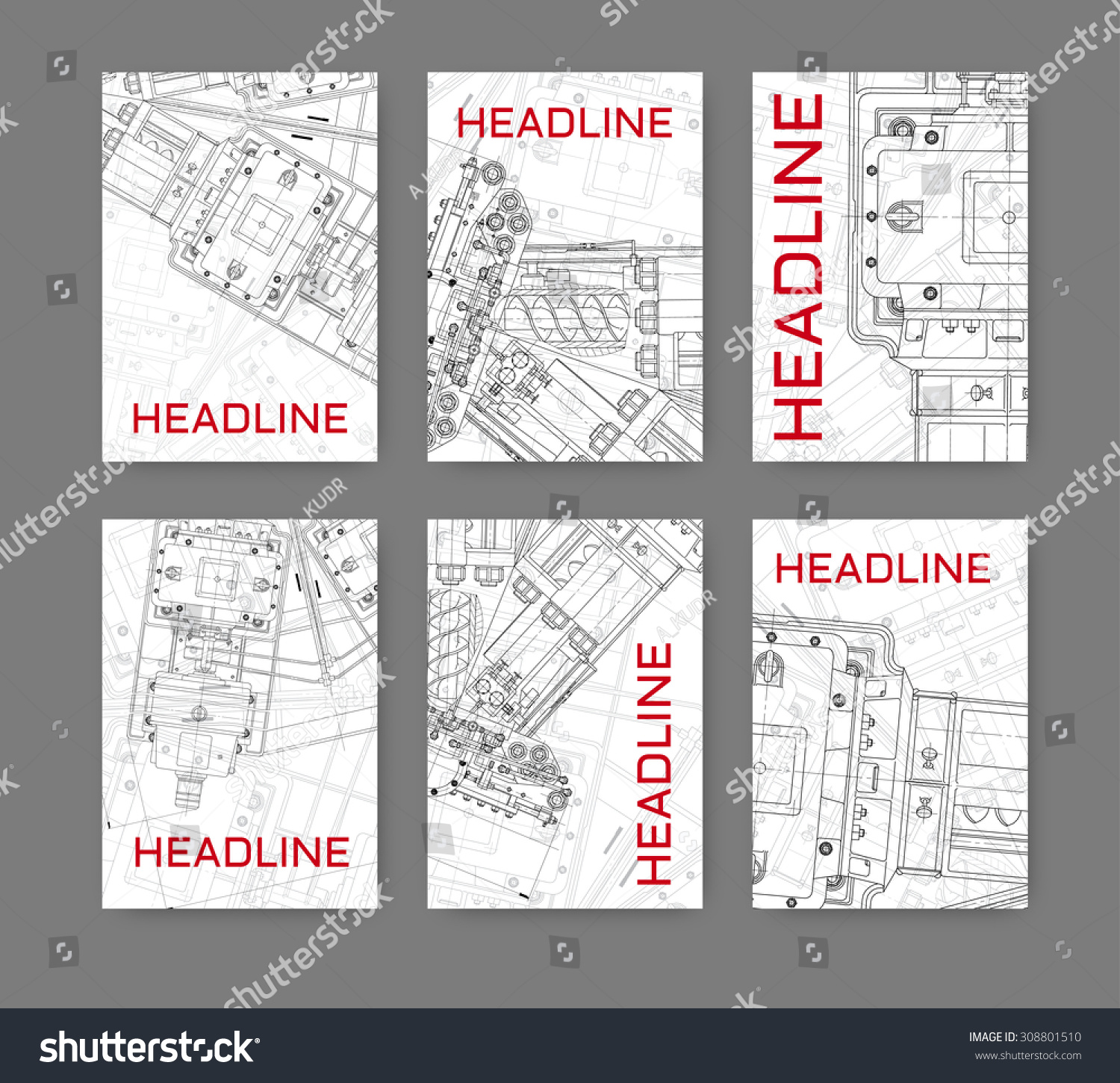 Vector illustration technical blueprint mechanism business stock vector illustration with technical blueprint of mechanism business template for flyer banner poster malvernweather Images