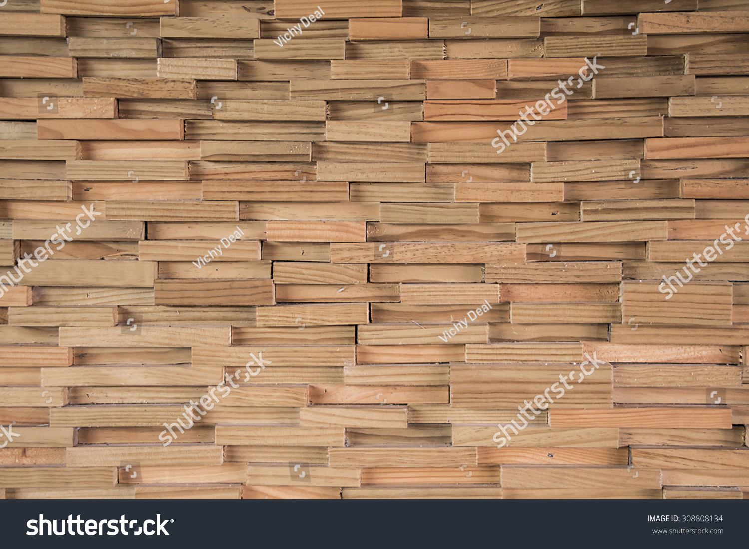 Wood Block Wall Royaltyfree Wood Block Wall Texture Background 308808134 Stock
