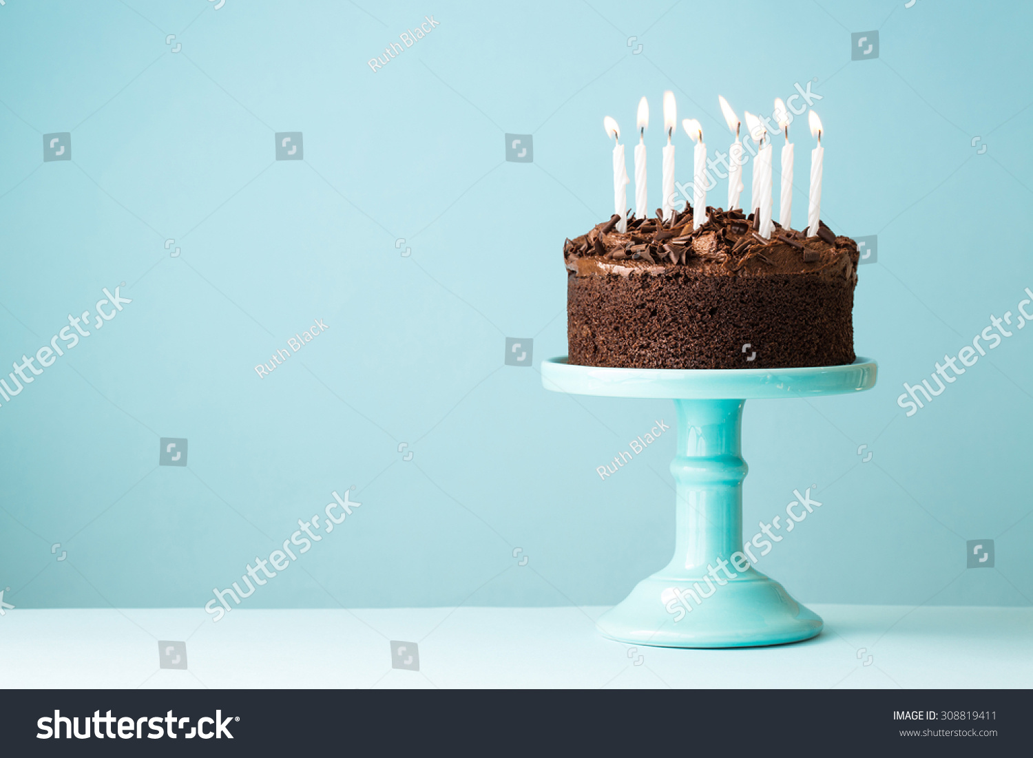 Chocolate Cake Images Birthday With Candles : Chocolate Birthday Cake Candles Stock Photo 308819411 ...