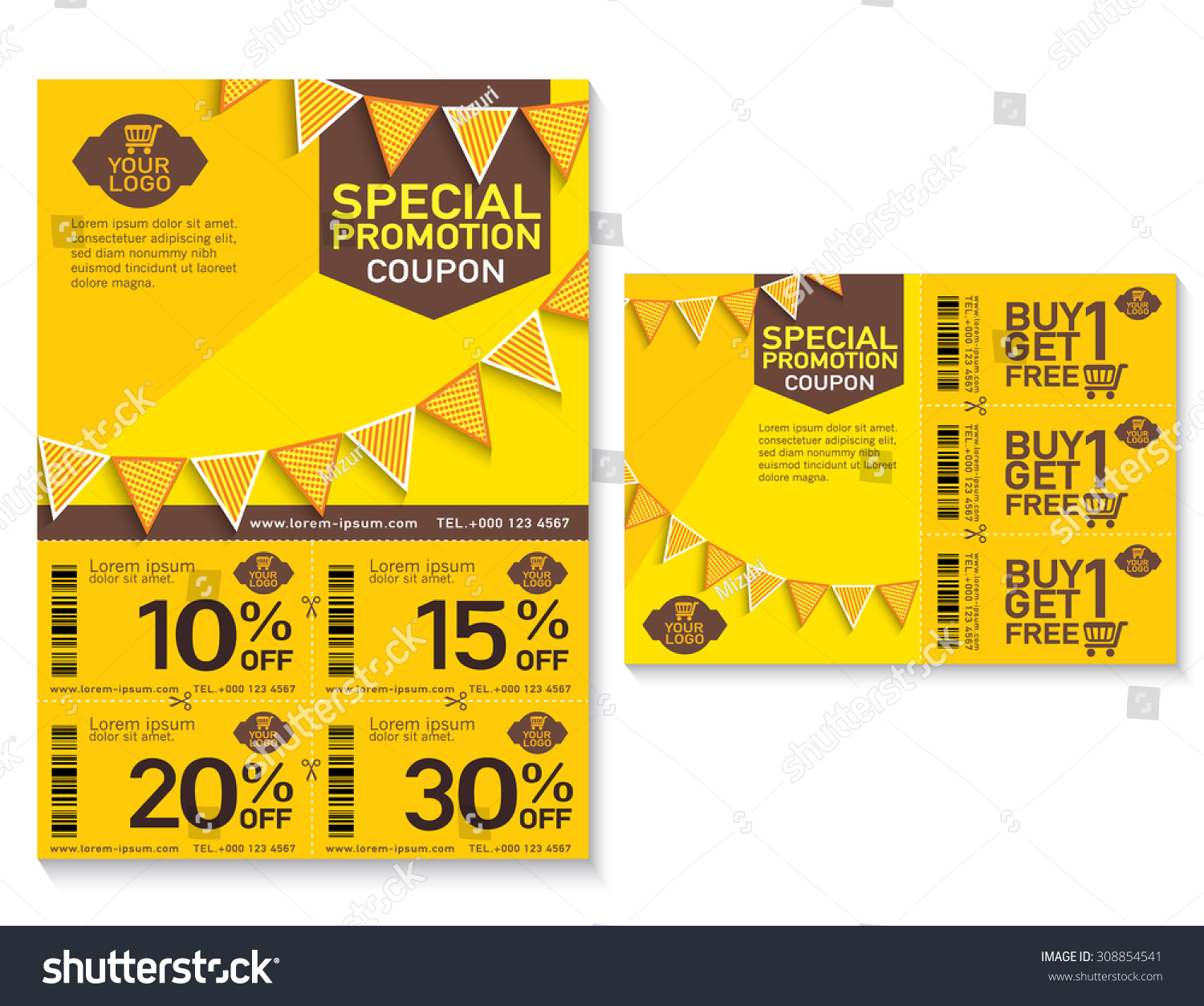 Sale Flyer, Promotions Coupon Or Banner Design With Best