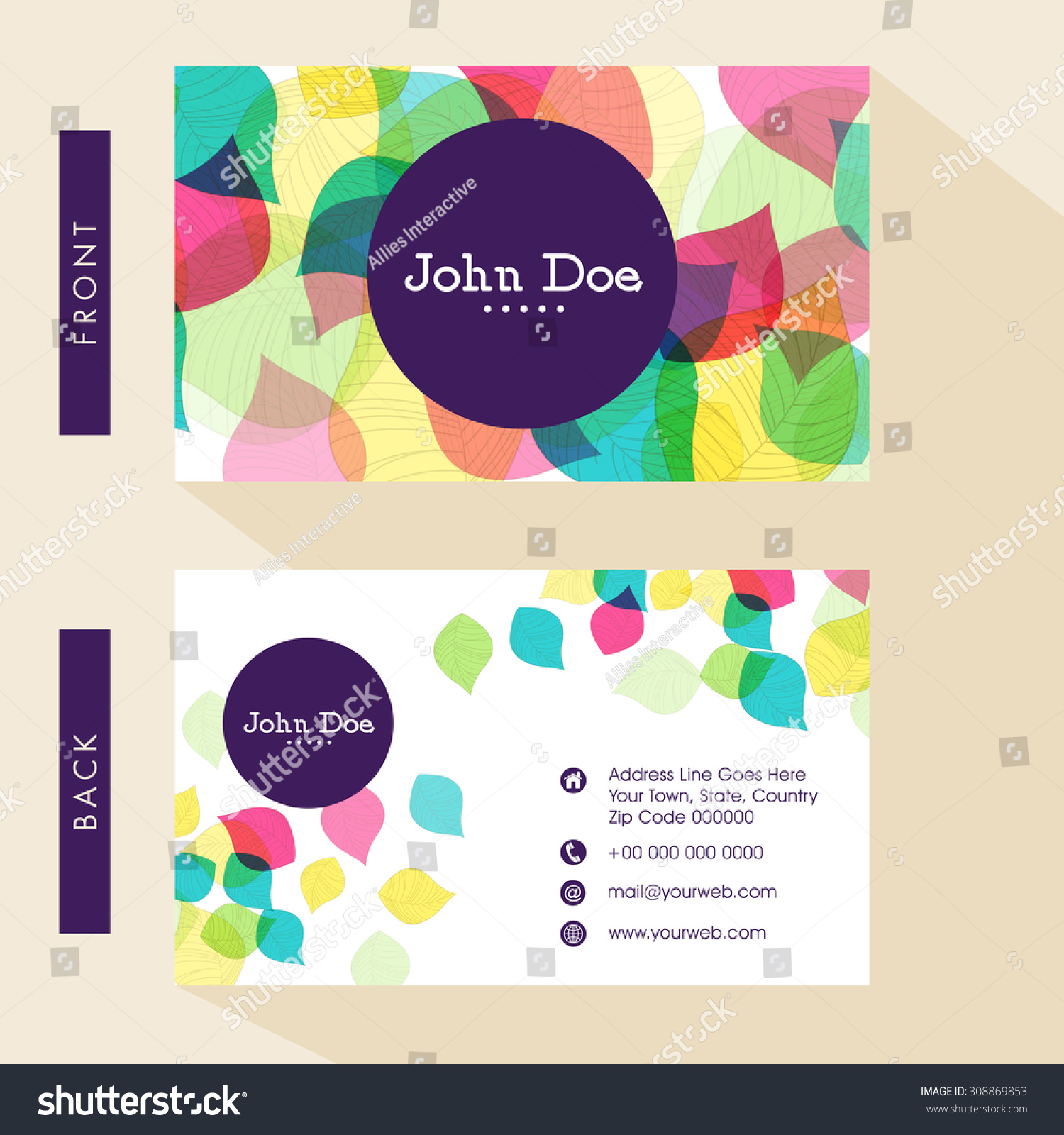 Business Card Visiting Card Design Front Stock Photo (Photo, Vector ...