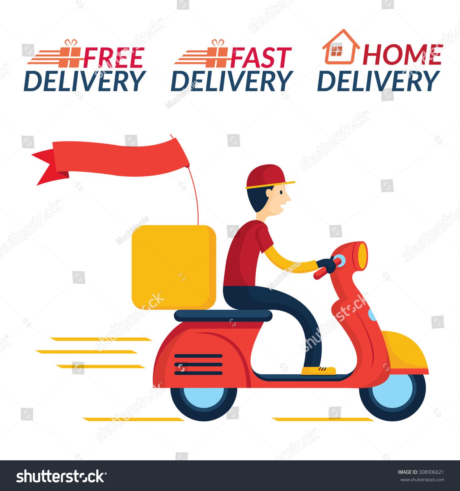 Food Delivery Man Cartoon