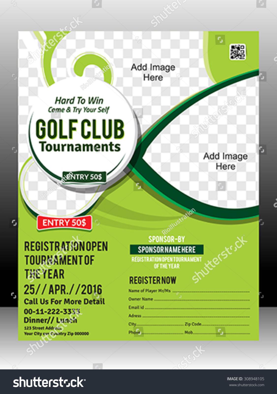Golf Tournament Sponsorship Flyer Mersnoforum