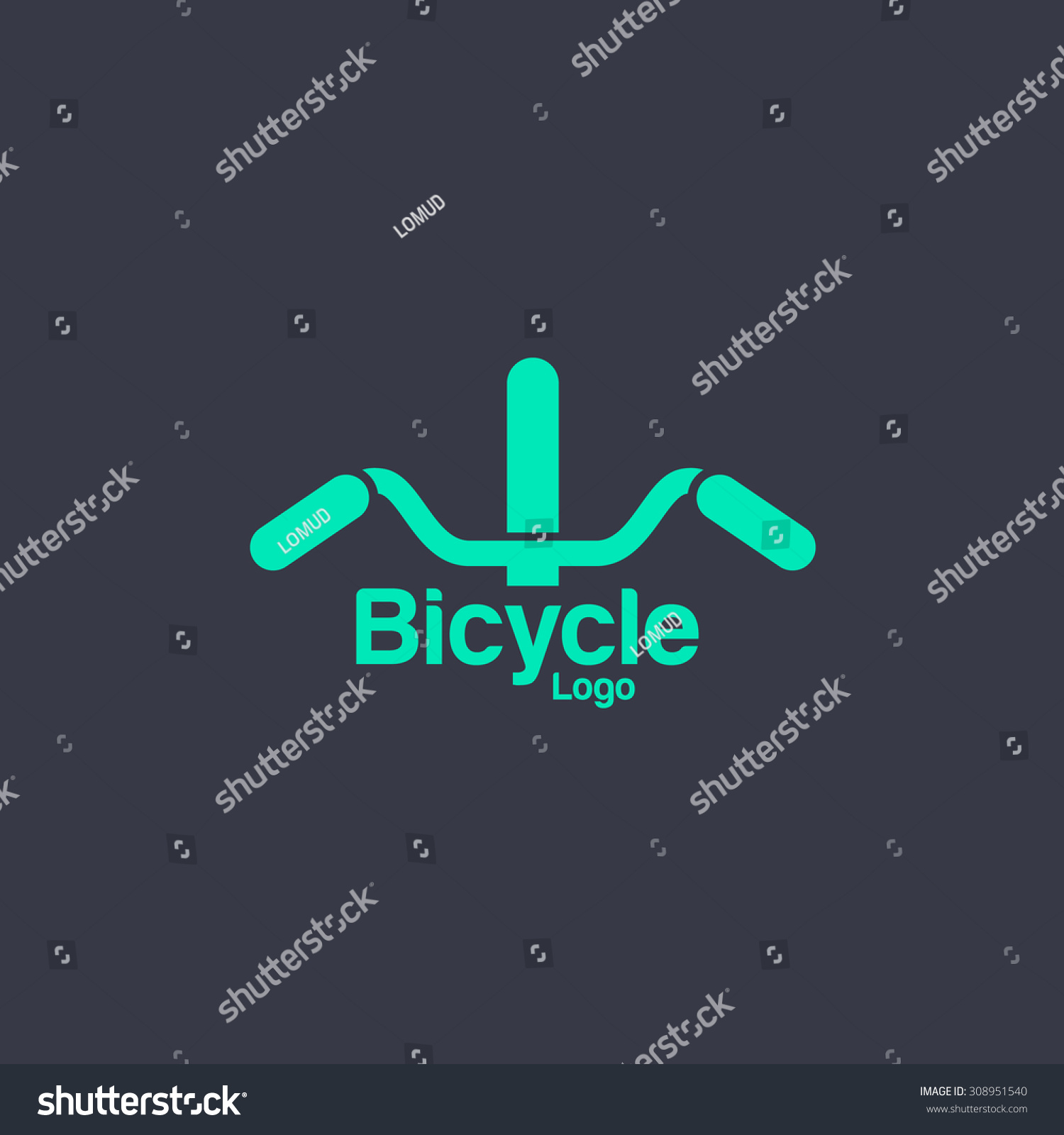 bicycle logo template bike shop corporate stock vector 308951540 shutterstock. Black Bedroom Furniture Sets. Home Design Ideas