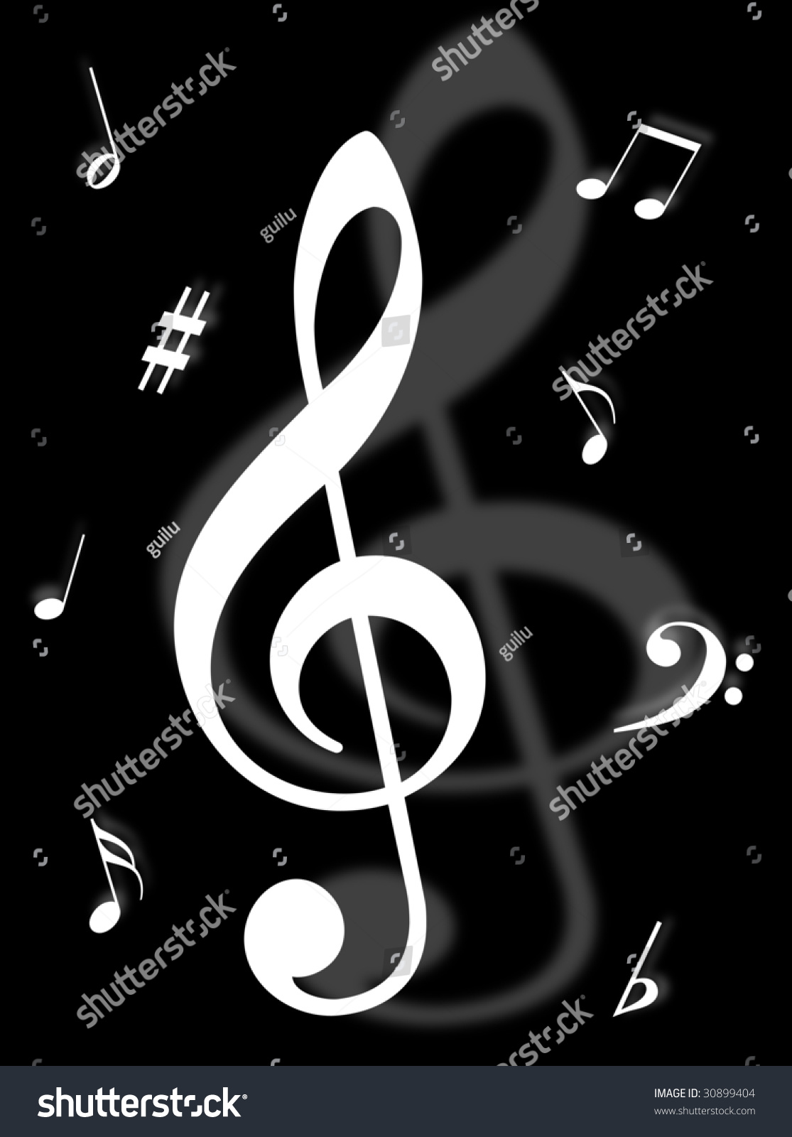 Music Symbols Signs Notes Represent Musical Stock Illustration ...
