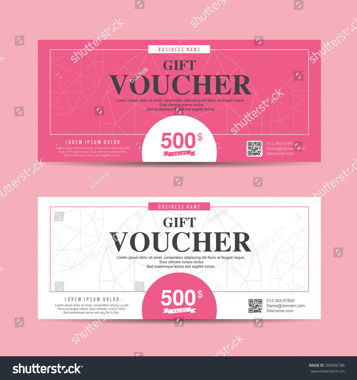 create a coupon template free - vector illustration gift voucher template with colorful