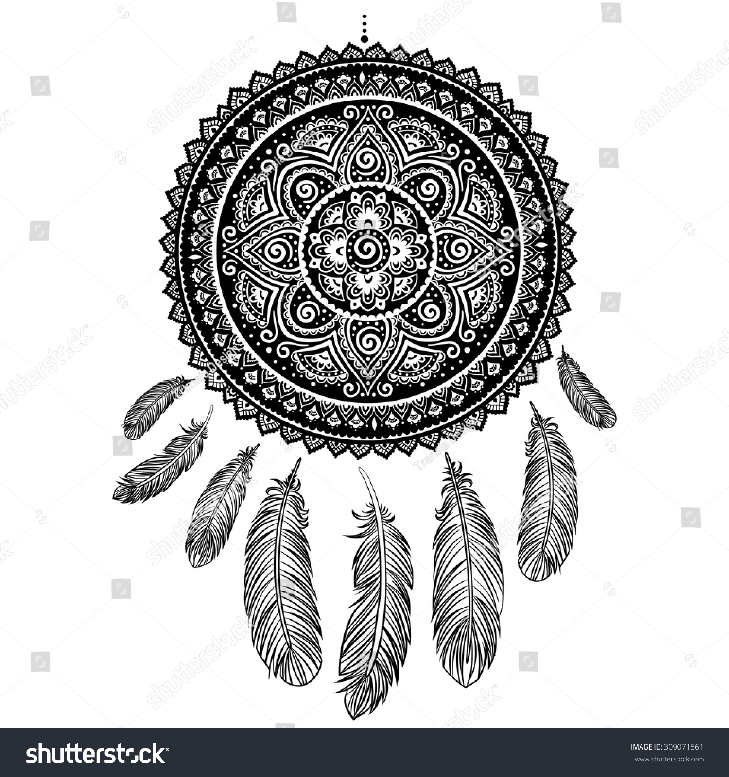 Royalty free ethnic american indian dream catcher 309071561 stock ethnic american indian dream catcher can be used as a greeting card 309071561 m4hsunfo