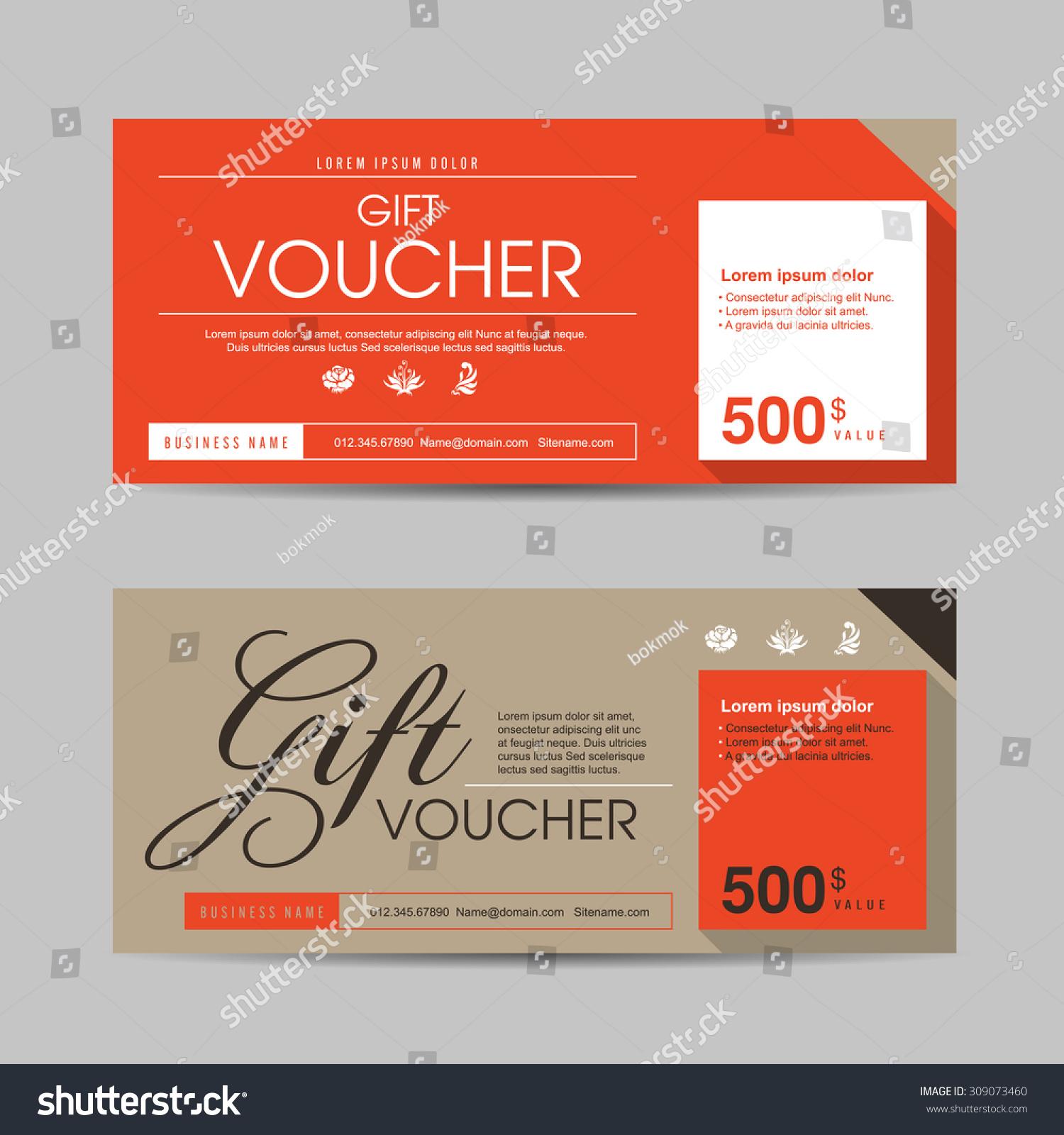 gift voucher layout