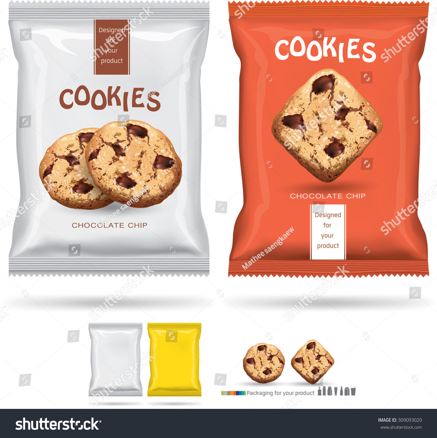Design packaging for chocolate cookies.vector