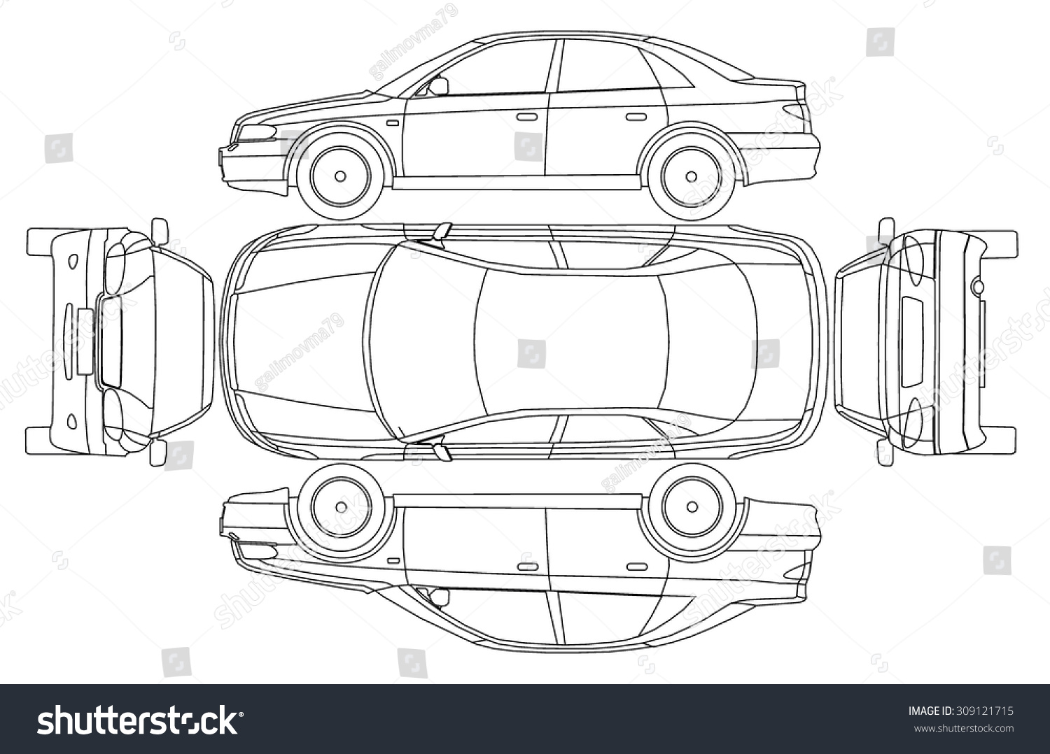 car line draw insurance rent damage stock vector 309121715 shutterstock. Black Bedroom Furniture Sets. Home Design Ideas