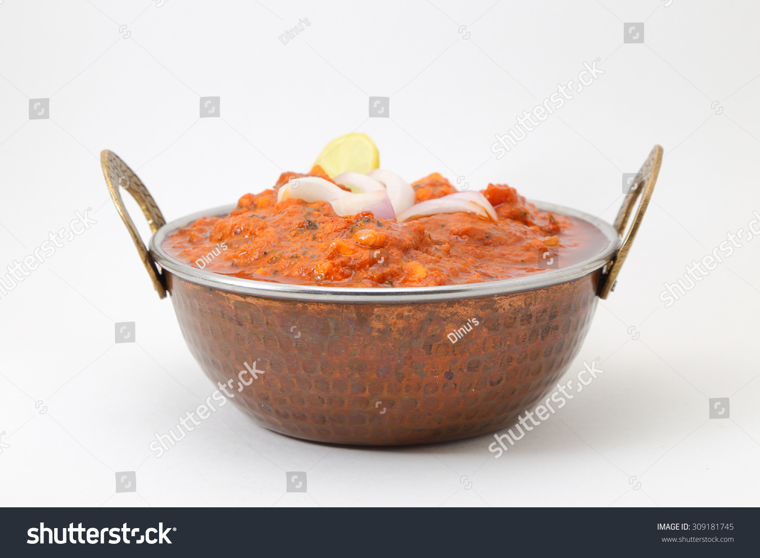 Indian Style Cottage Cheese Vegetarian Curry Stock Photo 309181745