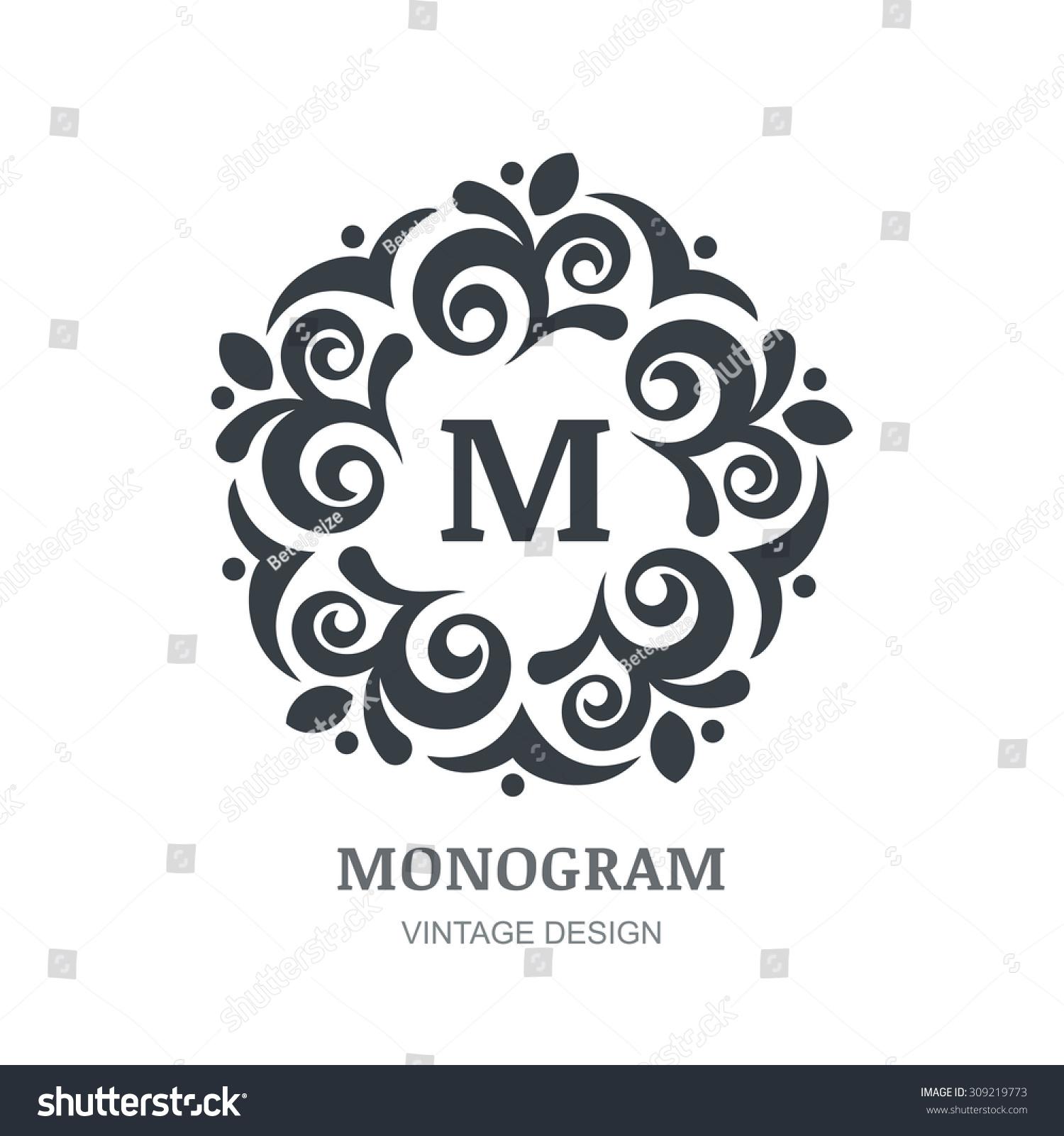 Vintage frames monogram patterns in vector set svg