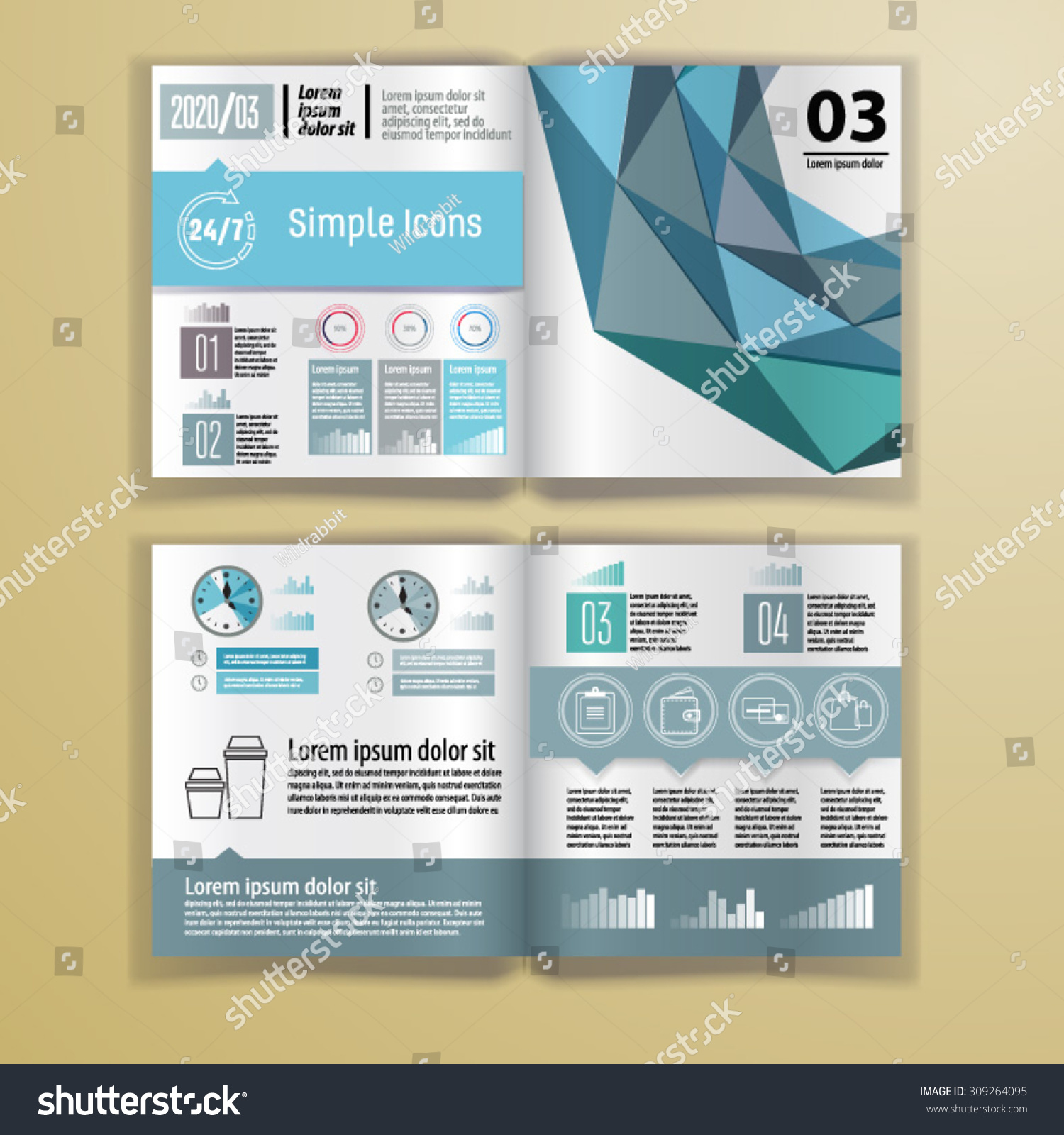 Color application booklet template design corporate stock for Craft fair application template
