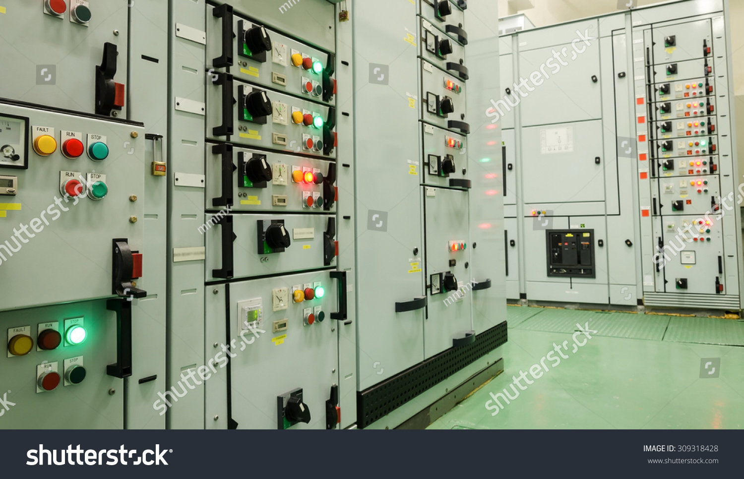 electrical energy substation in a power plant