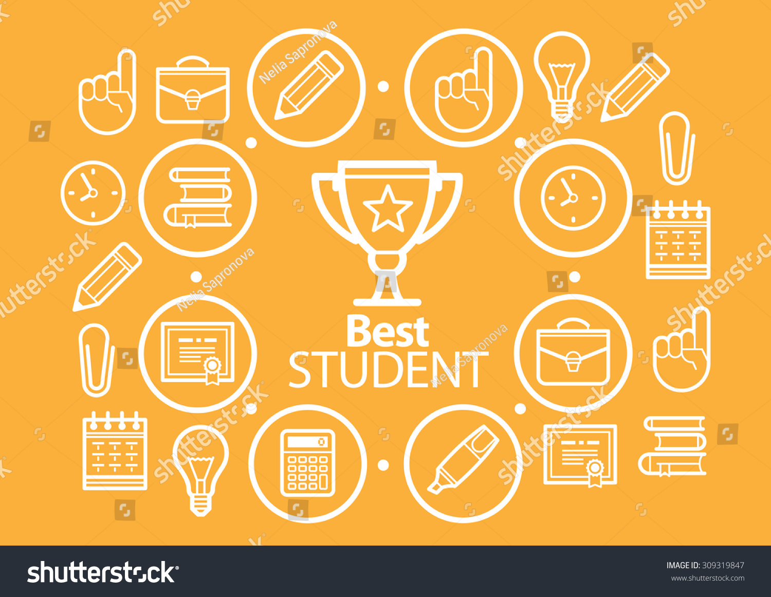 Education Background Icons Set Vector Illustration Stock