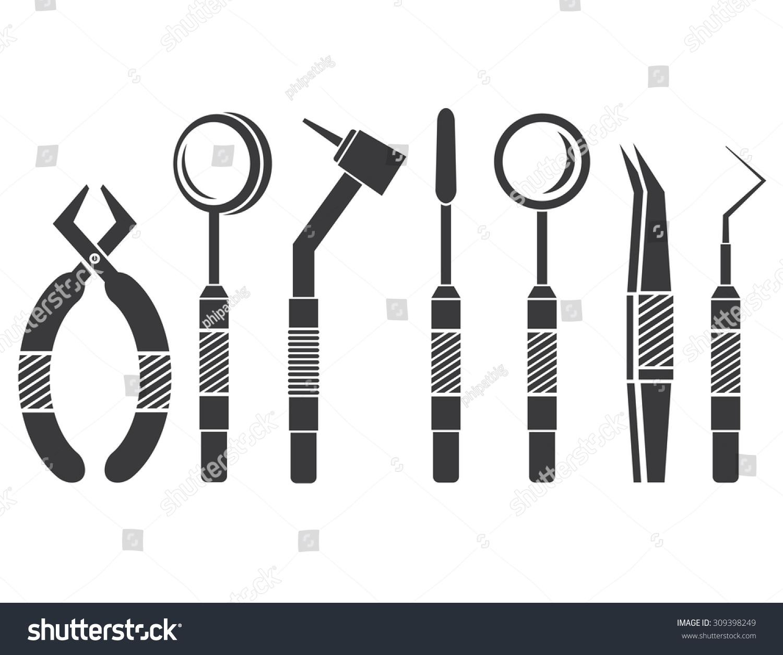 Dental Equipment Stock Vector Illustration 309398249 ...