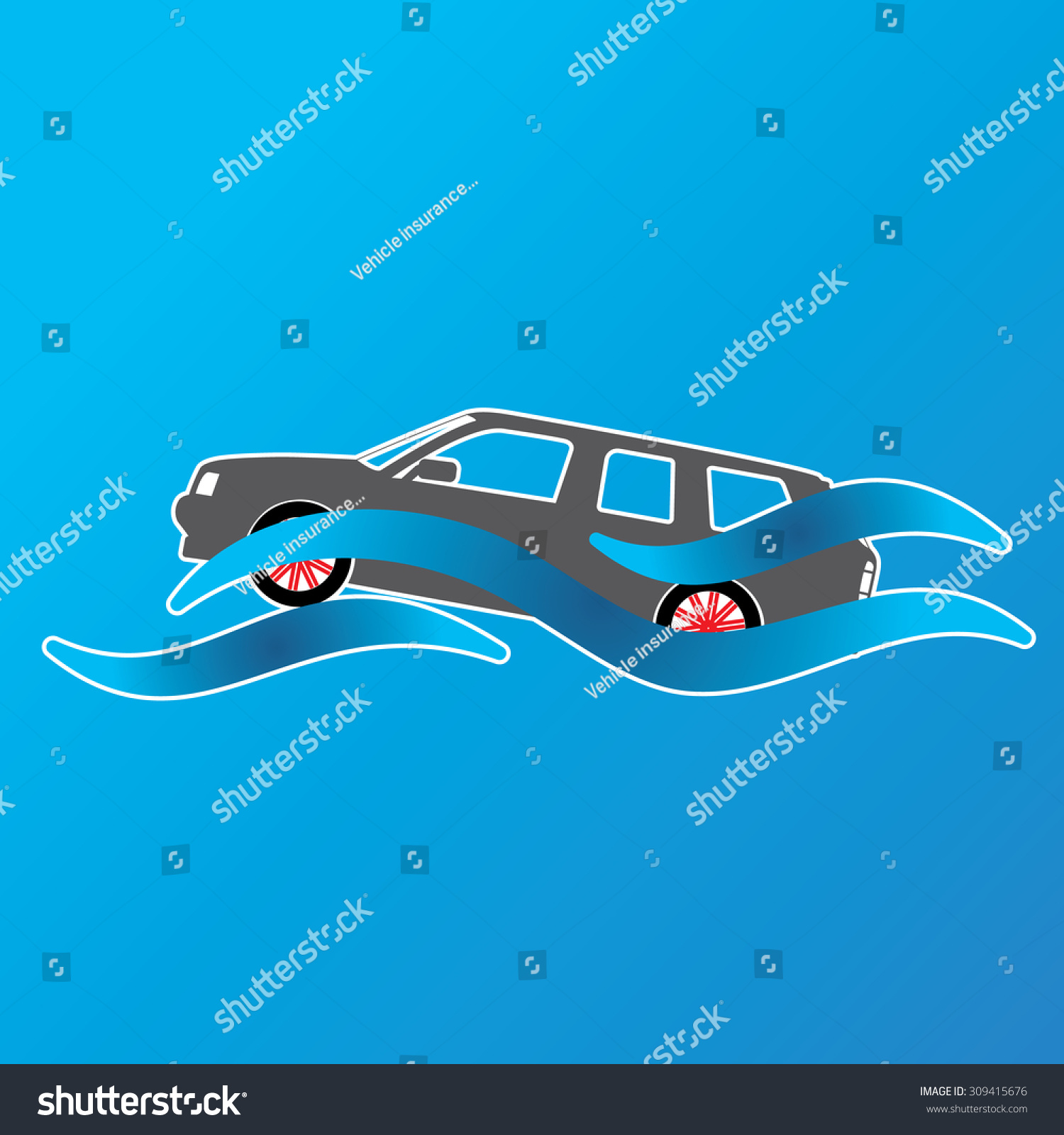 Symbol car submerged pool water vector stock vector 309415676 symbol of a car submerged in a pool of water in vector illustration format biocorpaavc Choice Image