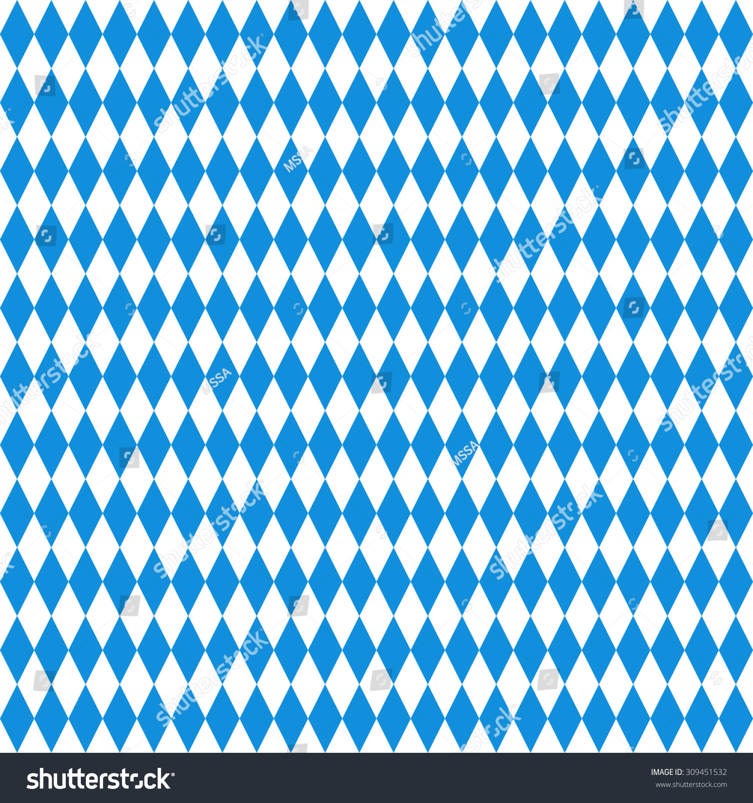 oktoberfest checkered background blue diamonds on stock