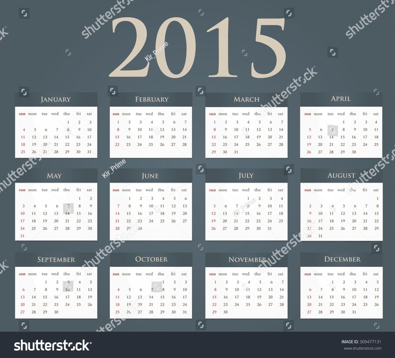 Calendar Background Vector : Calendar on blue background vector eps