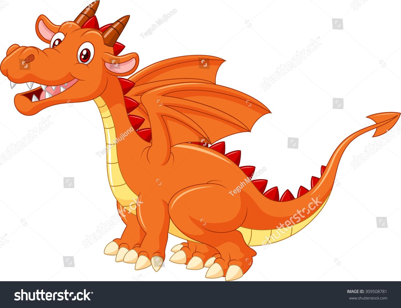 cute dragon illustration stock vector 309508781 shutterstock