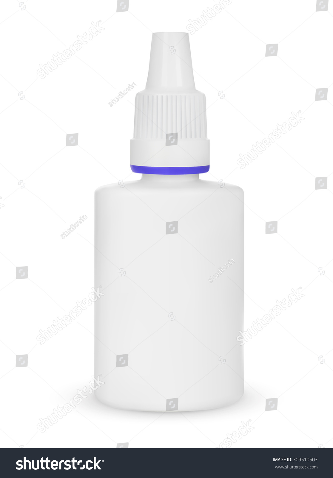 Spray Medical Nasal Antiseptic Drugs Plastic Stock Vector
