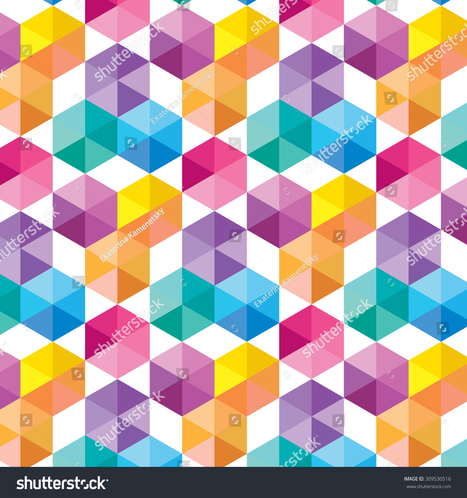 pattern colorful shapes - photo #11