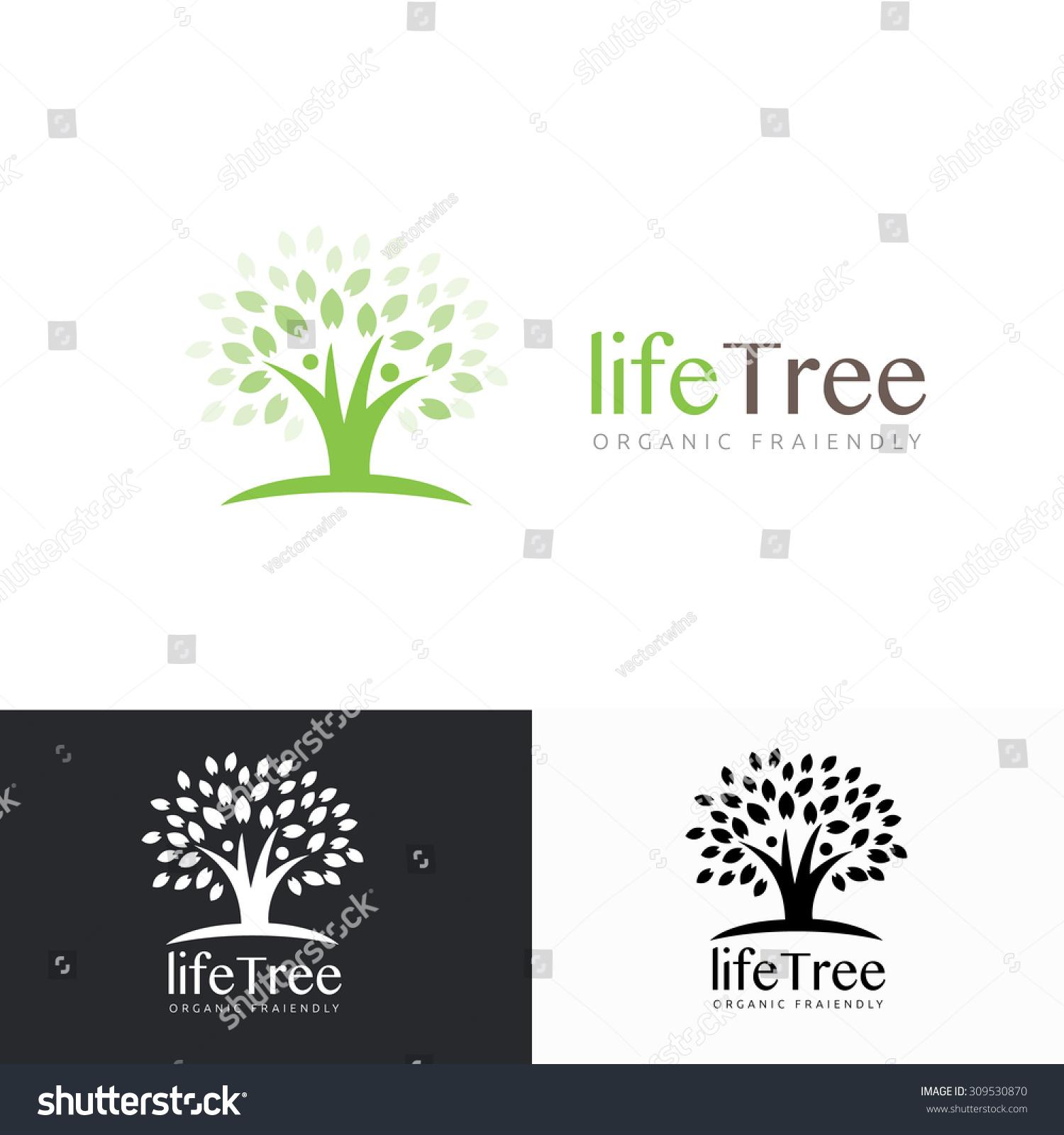 Life Tree Logotree Logopeople Tree Logopeople Stock Vector ...