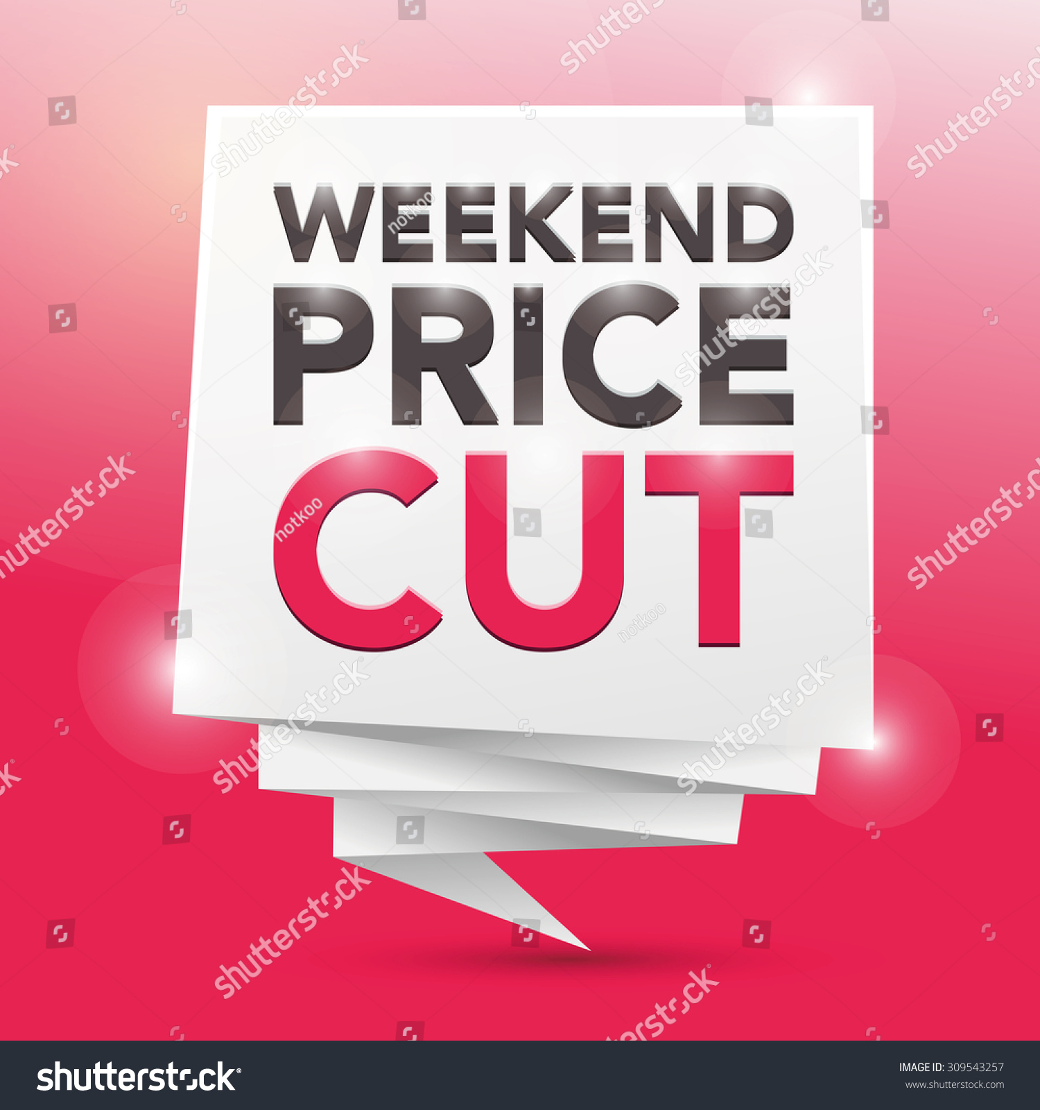 Price for a poster design - Weekend Price Cut Poster Design Element Preview Save To A Lightbox
