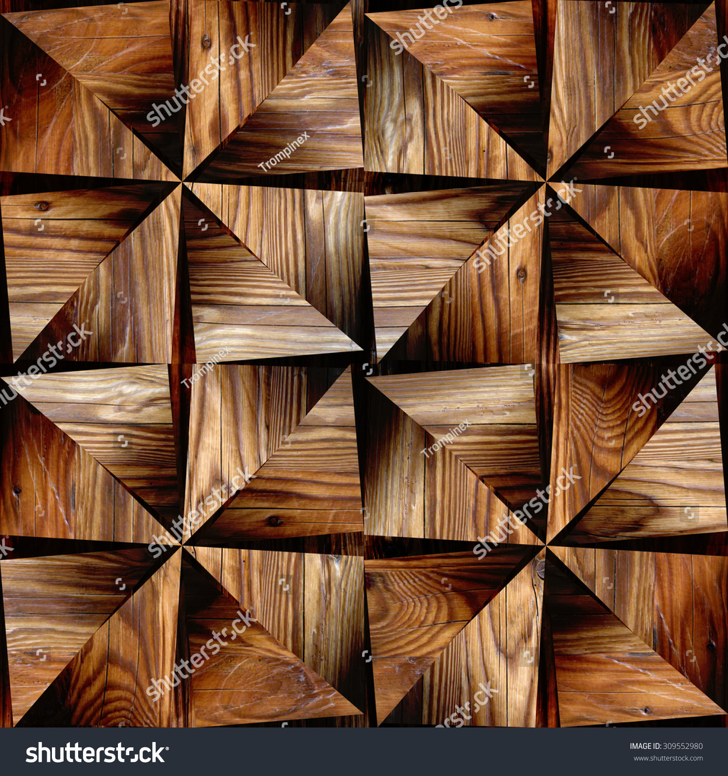 Interior Design Wallpaper - Triangular Style - Abstract ...