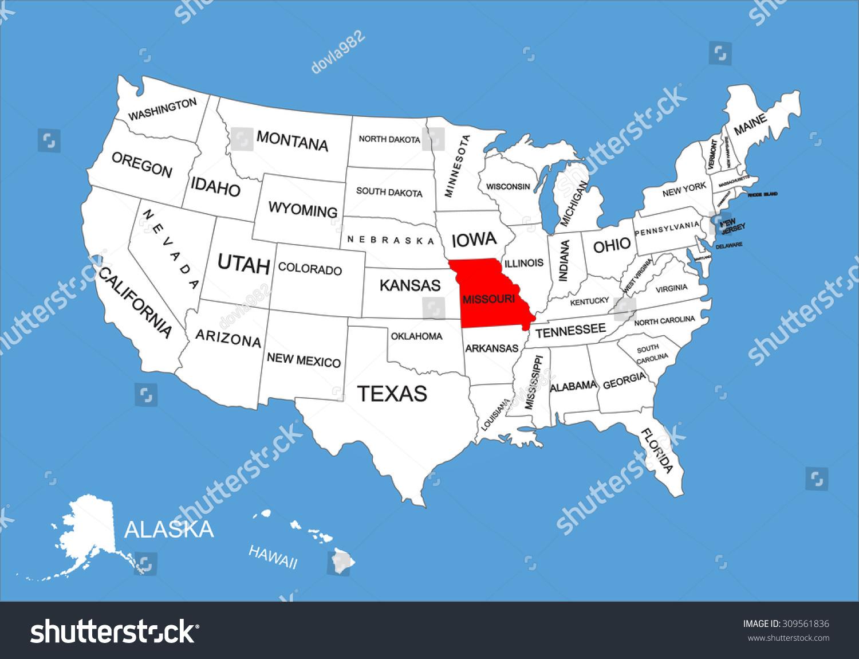 United States Map Missouri Image Collections Maps Of World - Missouri usa map