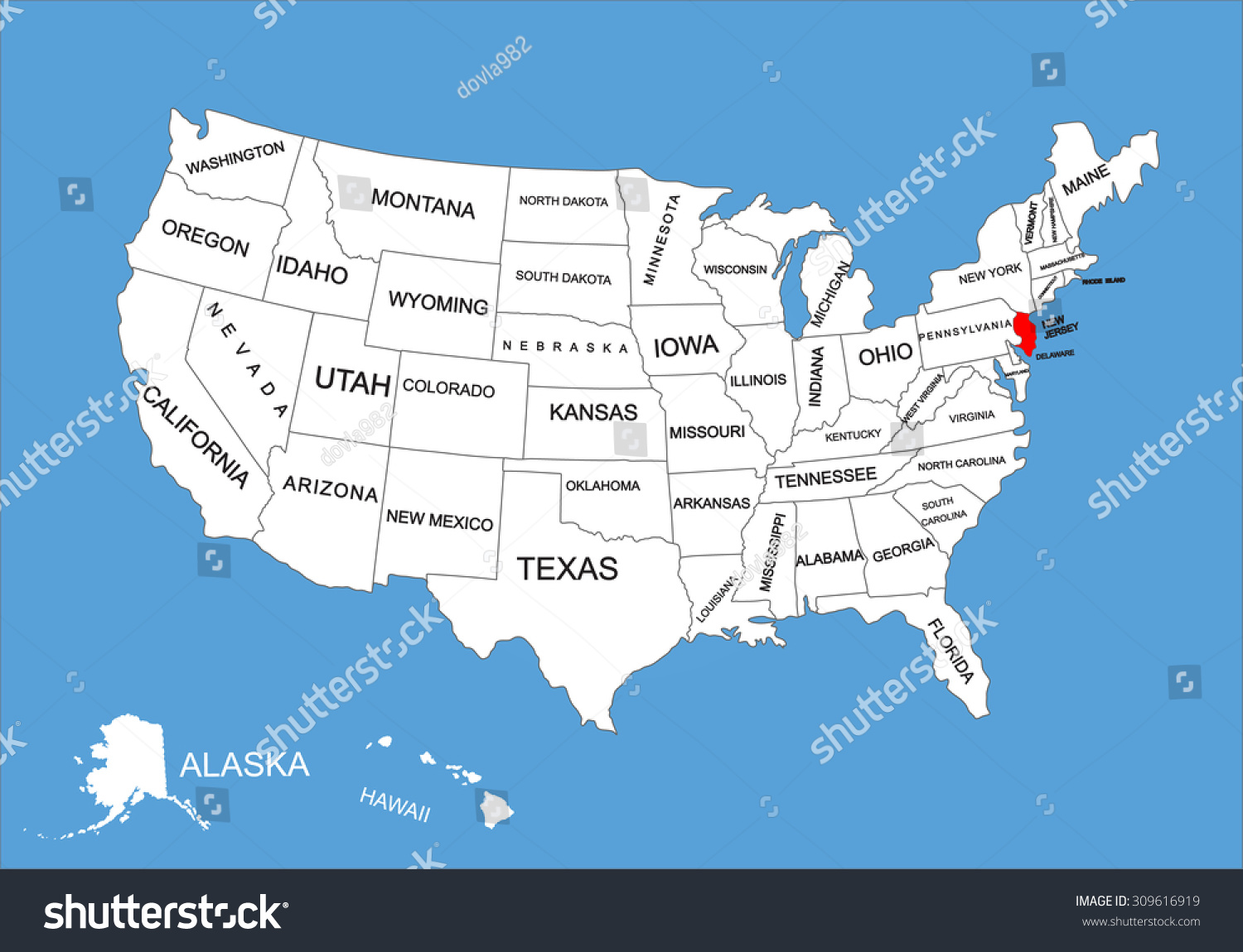 Map Of New Jersey State Usa Large Administrative Map Of New - Map of states in usa