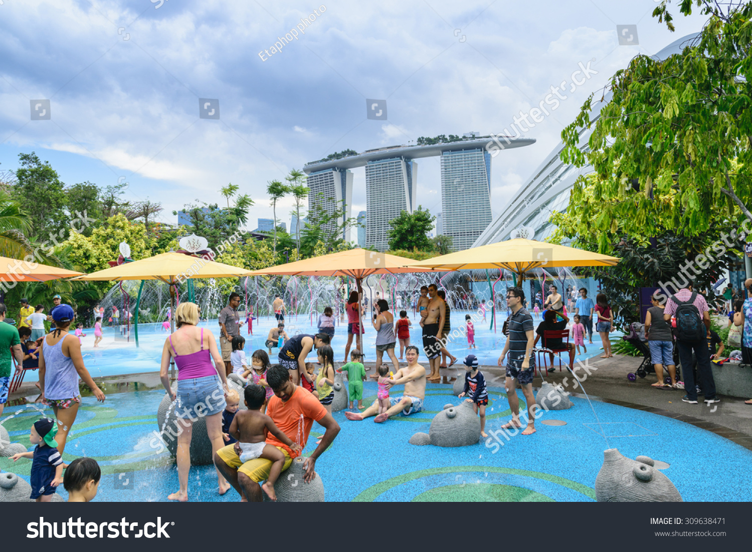 singaporemay30th2015on a hot day and a public holiday - Garden By The Bay Water Park