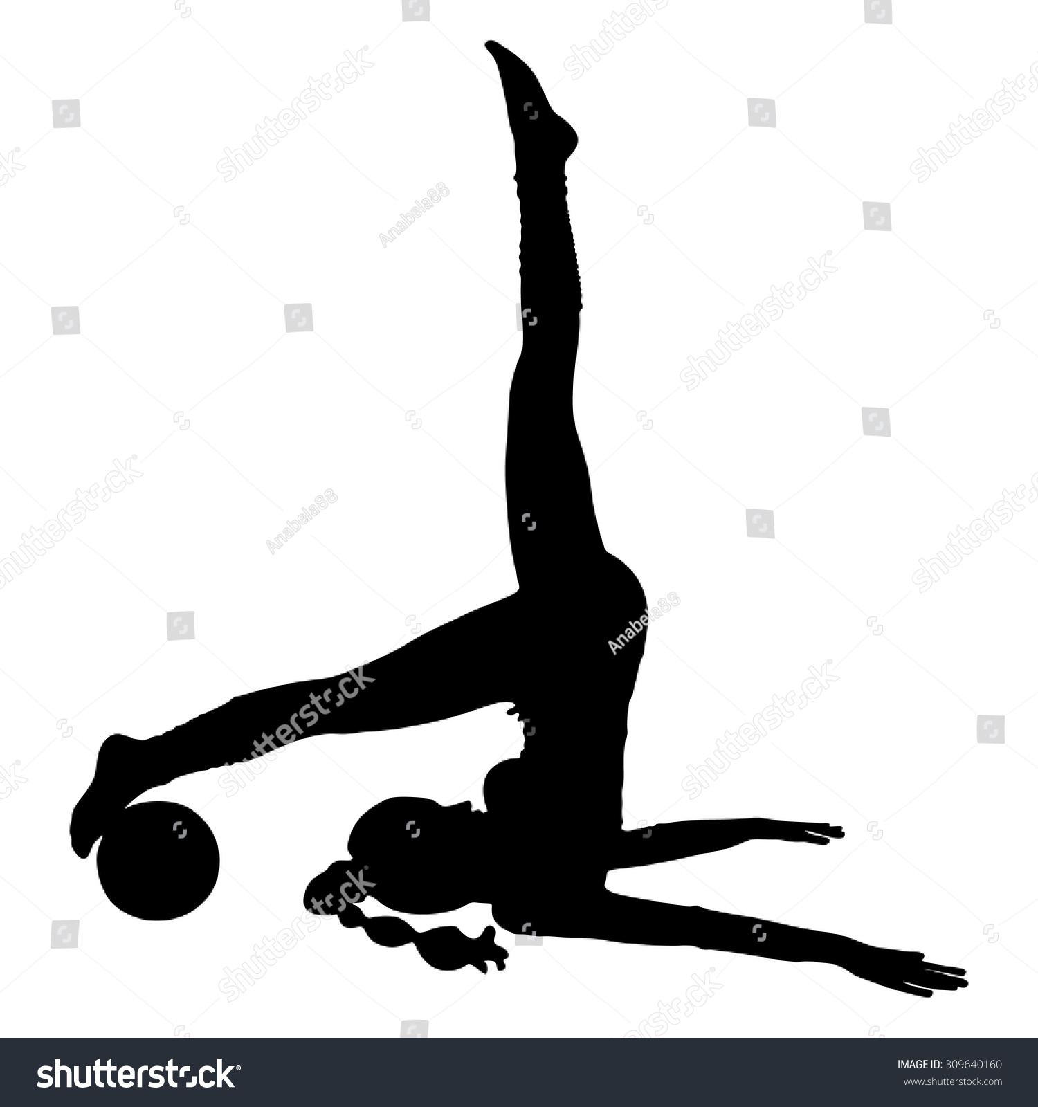 Woman Pilates Chair Exercises Fitness Stock Photo: Pilates Woman Stability Ball Gym Fitness Stock Vector