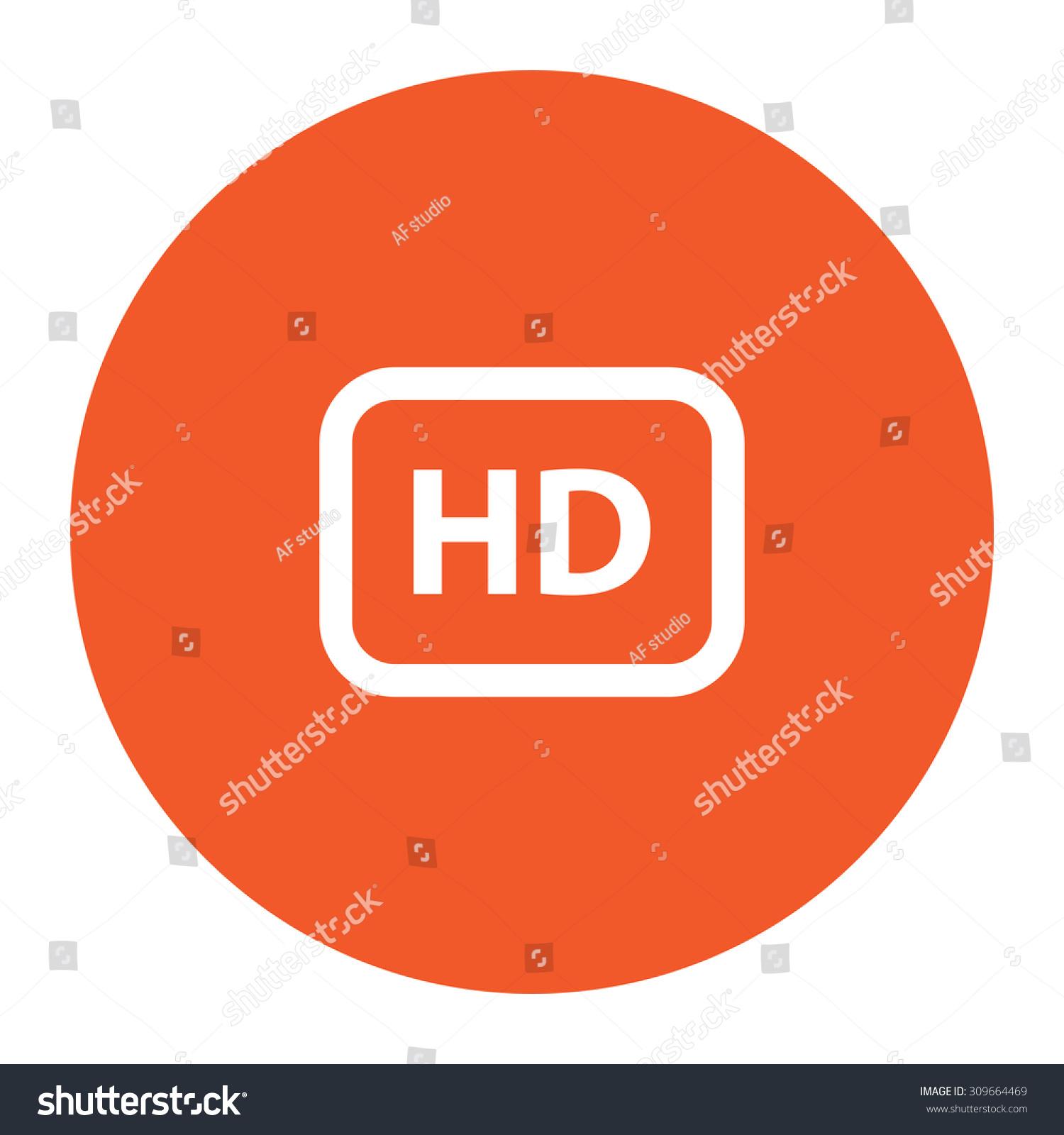 Hd word button flat white symbol stock vector 309664469 shutterstock hd word button flat white symbol in the orange circle vector illustration icon buycottarizona
