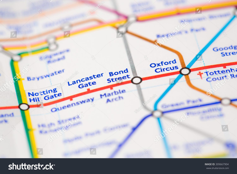 Map Bond Street London.View Of Bond Street Tube Station On A Stock Photo 309667904