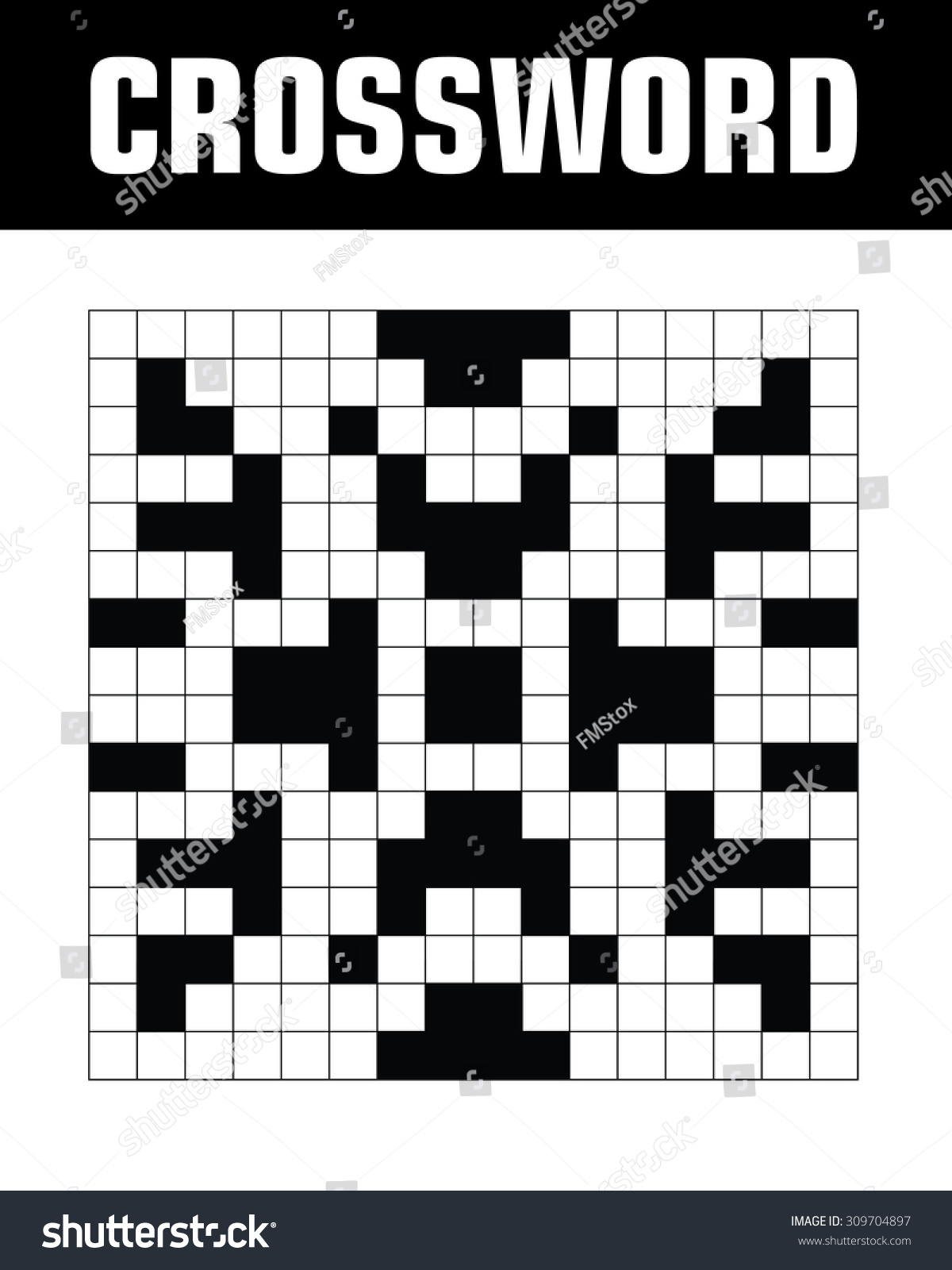 Vector Crossword Puzzle Template Stock Vector Royalty Free