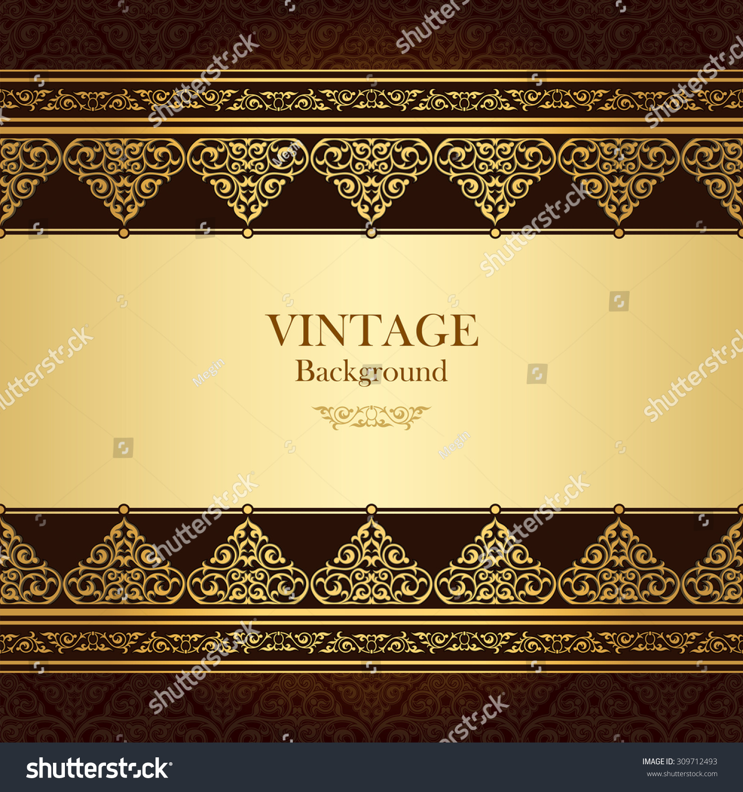 Quran Book Cover Template : Vintage vector card islamic style seamless stock