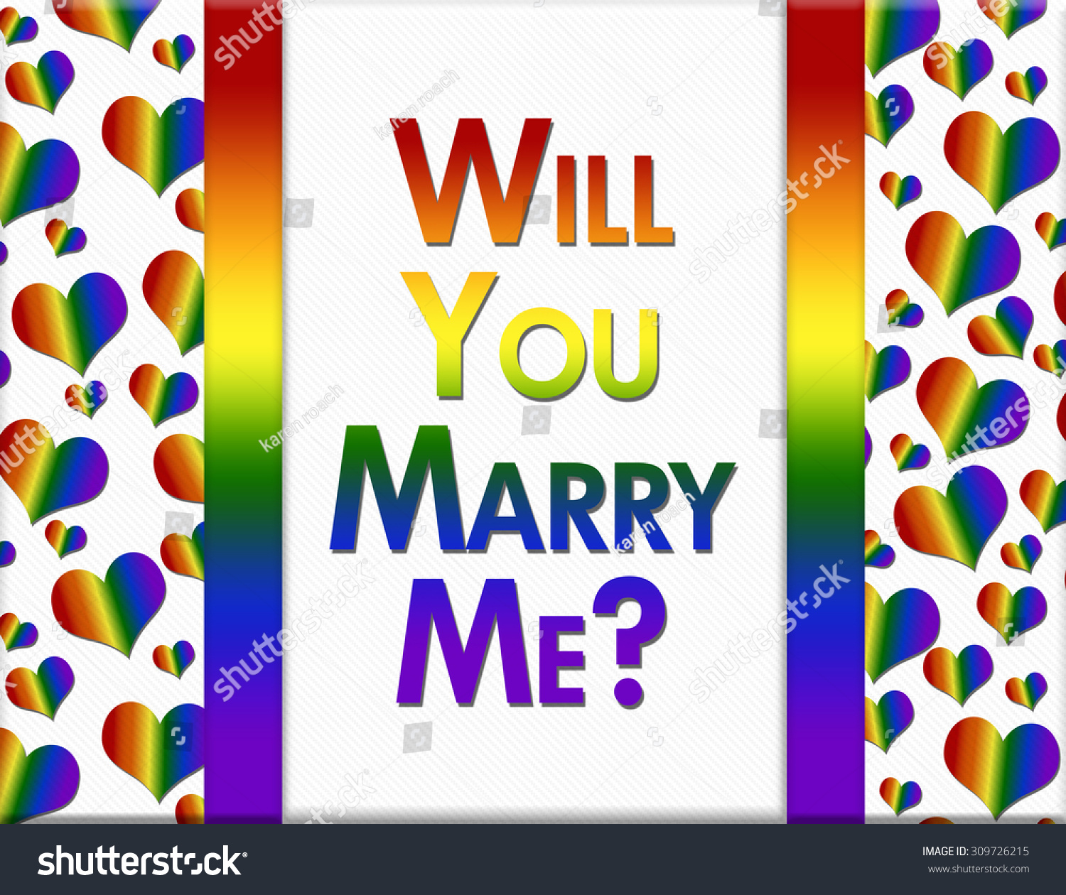 Royalty Free Stock Illustration Of Lgbt Will You Marry Me Message