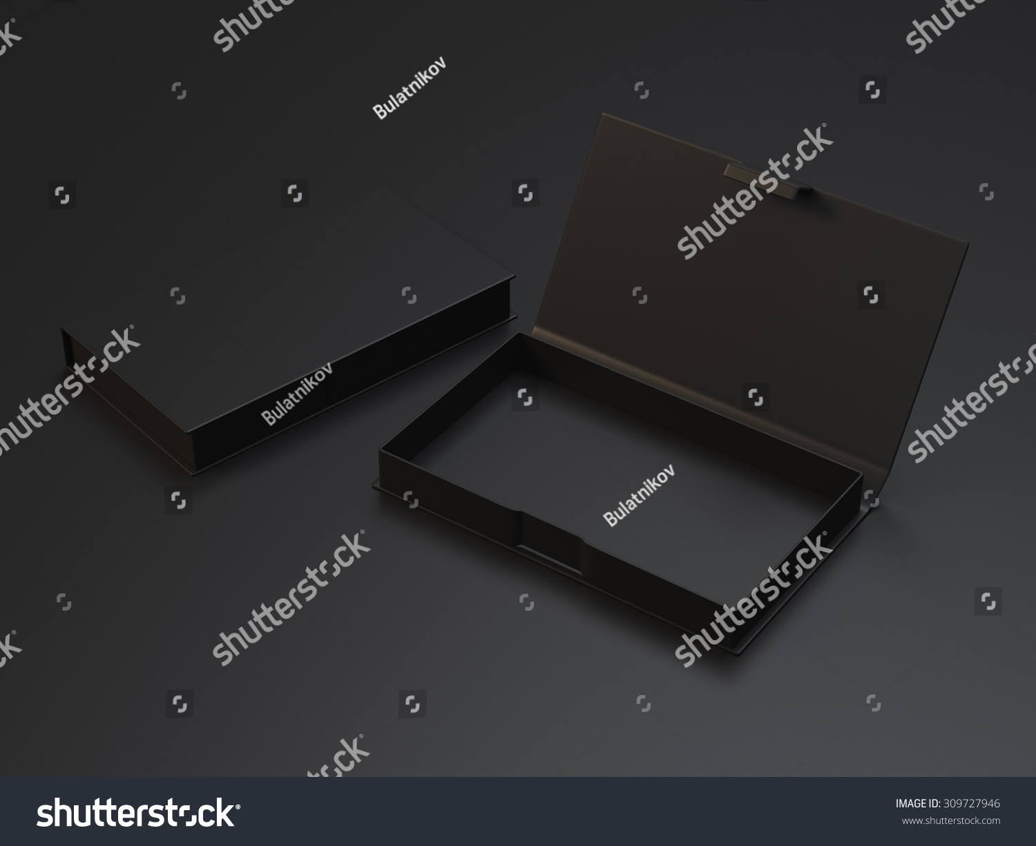 Empty black box business cards on stock illustration 309727946 empty black box for business cards on the black background magicingreecefo Images