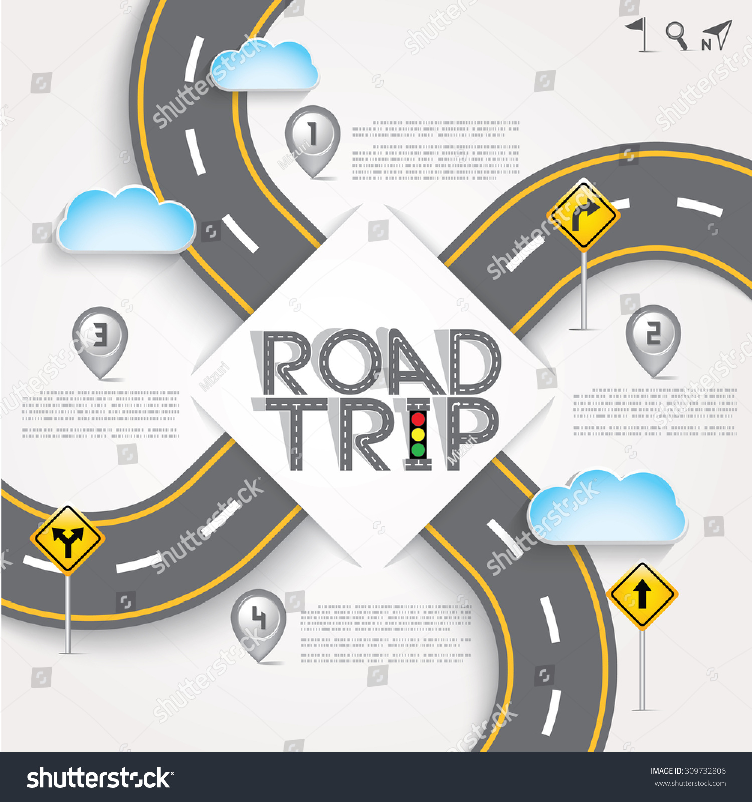 design road street template background words のベクター画像素材