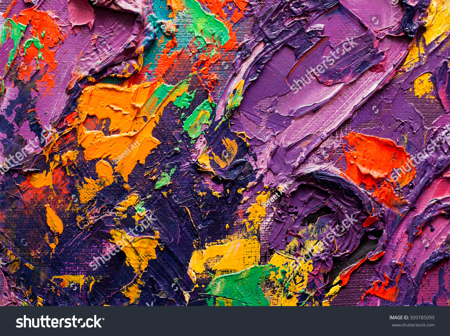 Abstract art background oil painting on stock illustration for Texture painting on canvas