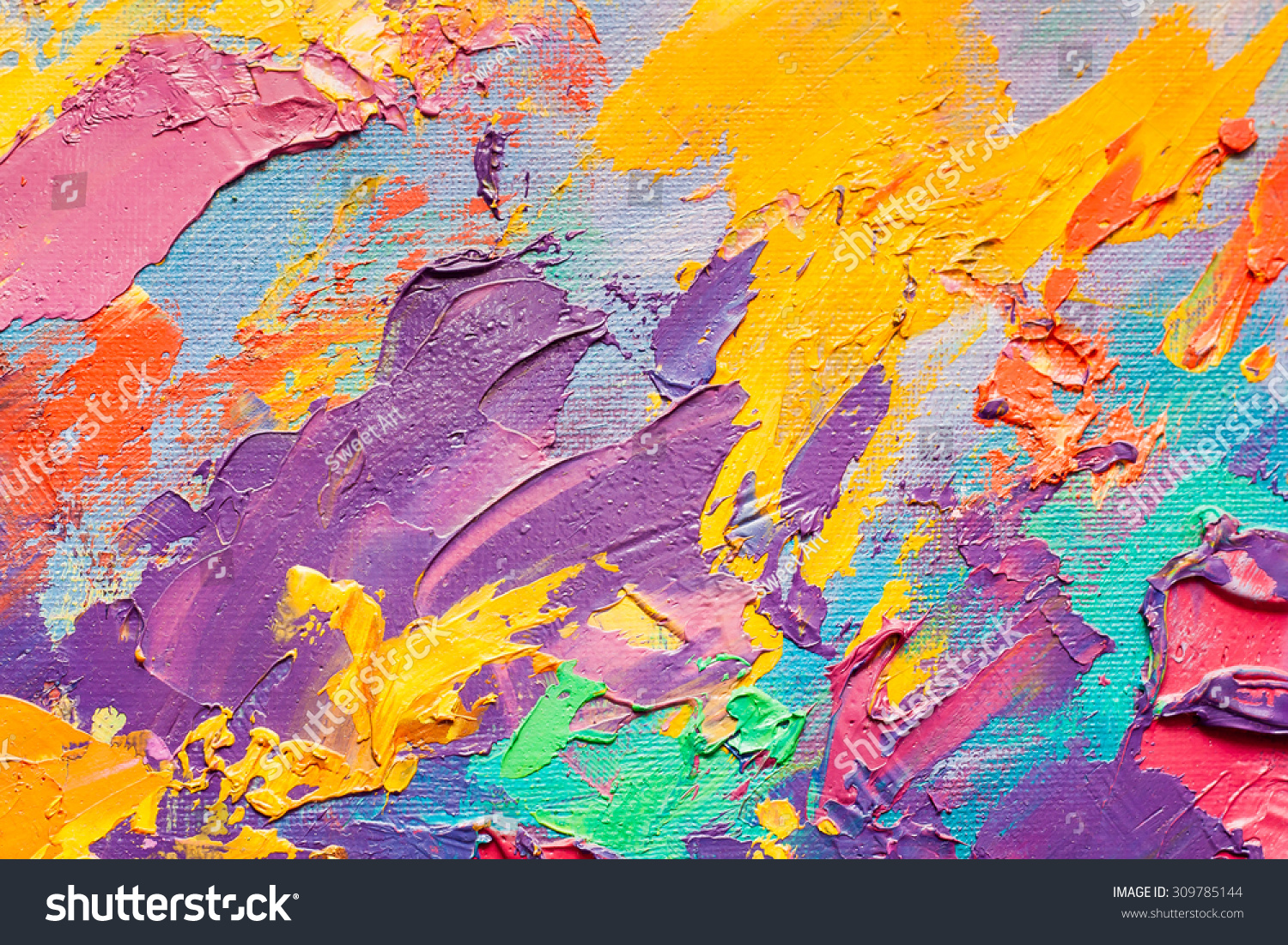 abstract art background oil painting on stock illustration 309785144