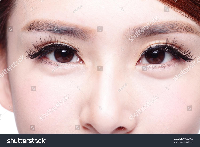 Beautiful Woman Eye Long Eyelashes Asian Stock Photo Edit Now