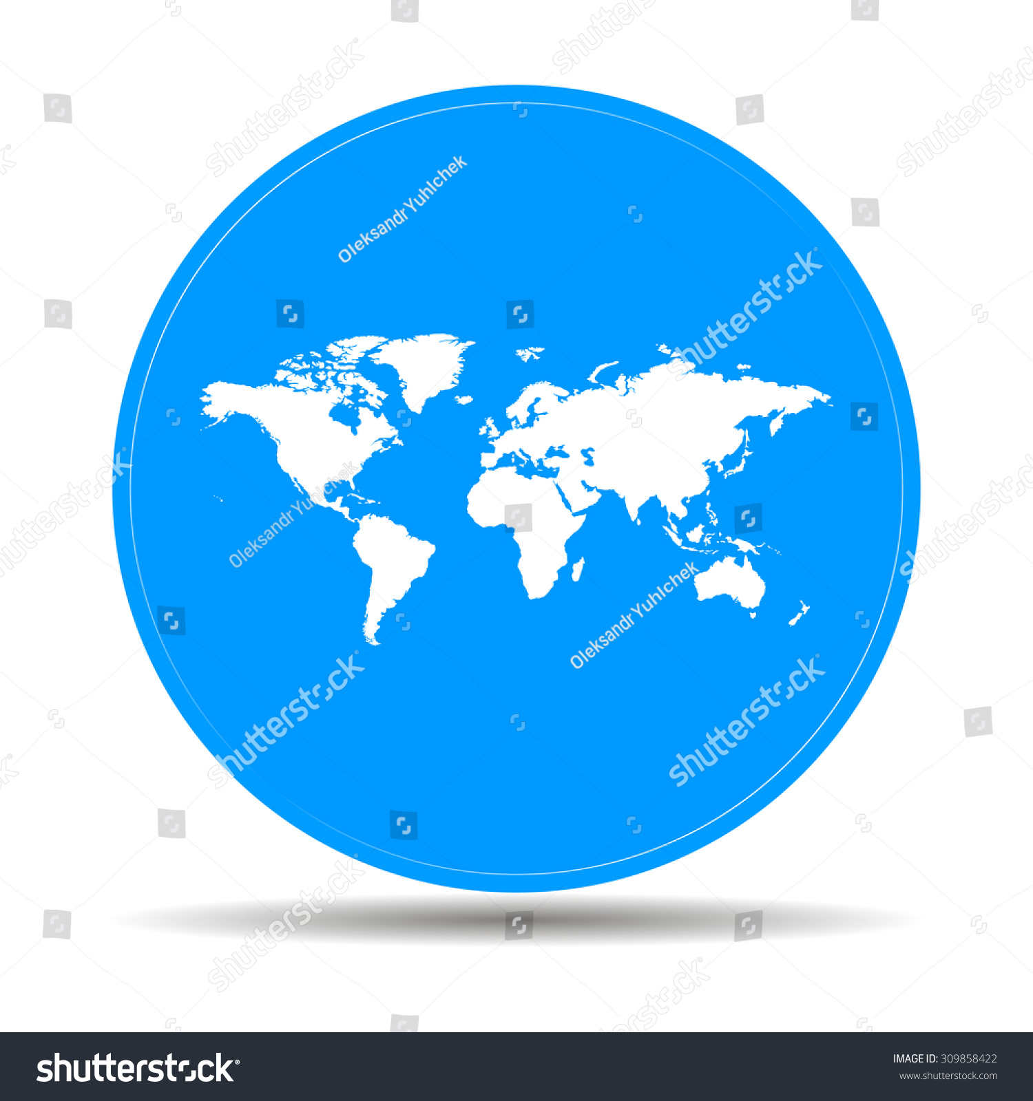 World map illustration flat design style stock vector 309858422 world map illustration flat design style eps 10 gumiabroncs Images