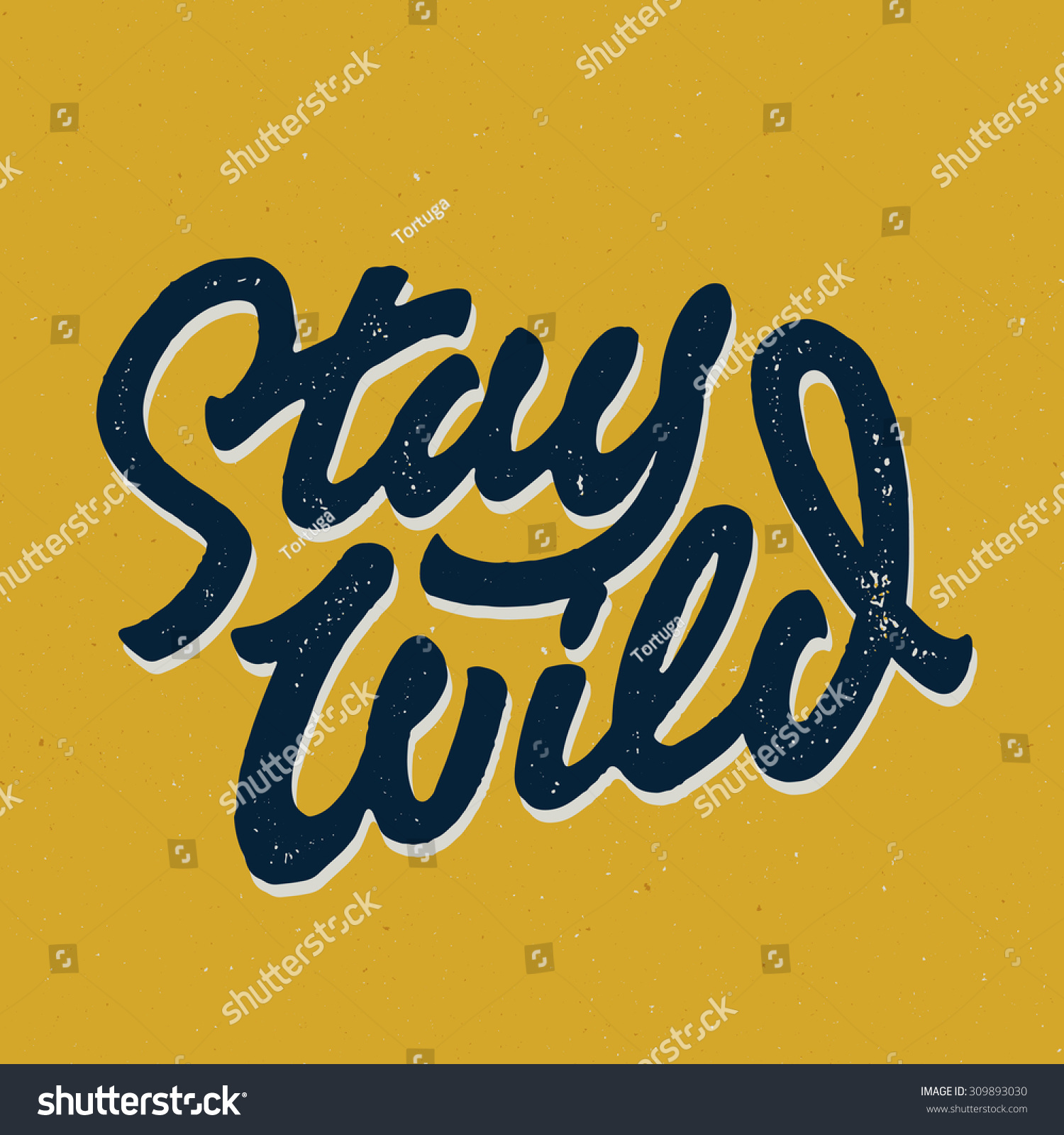 Stay Wild Old School Hand Drawn Stock Vector 309893030 - Shutterstock